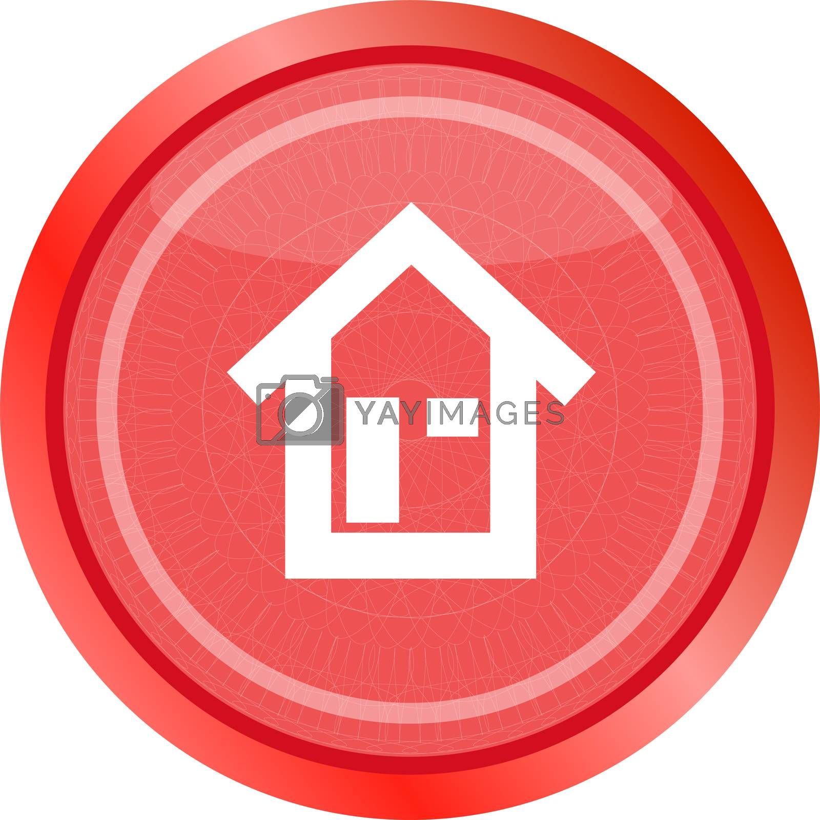 house button, signs, icons. Trendy flat style sign isolated on white background