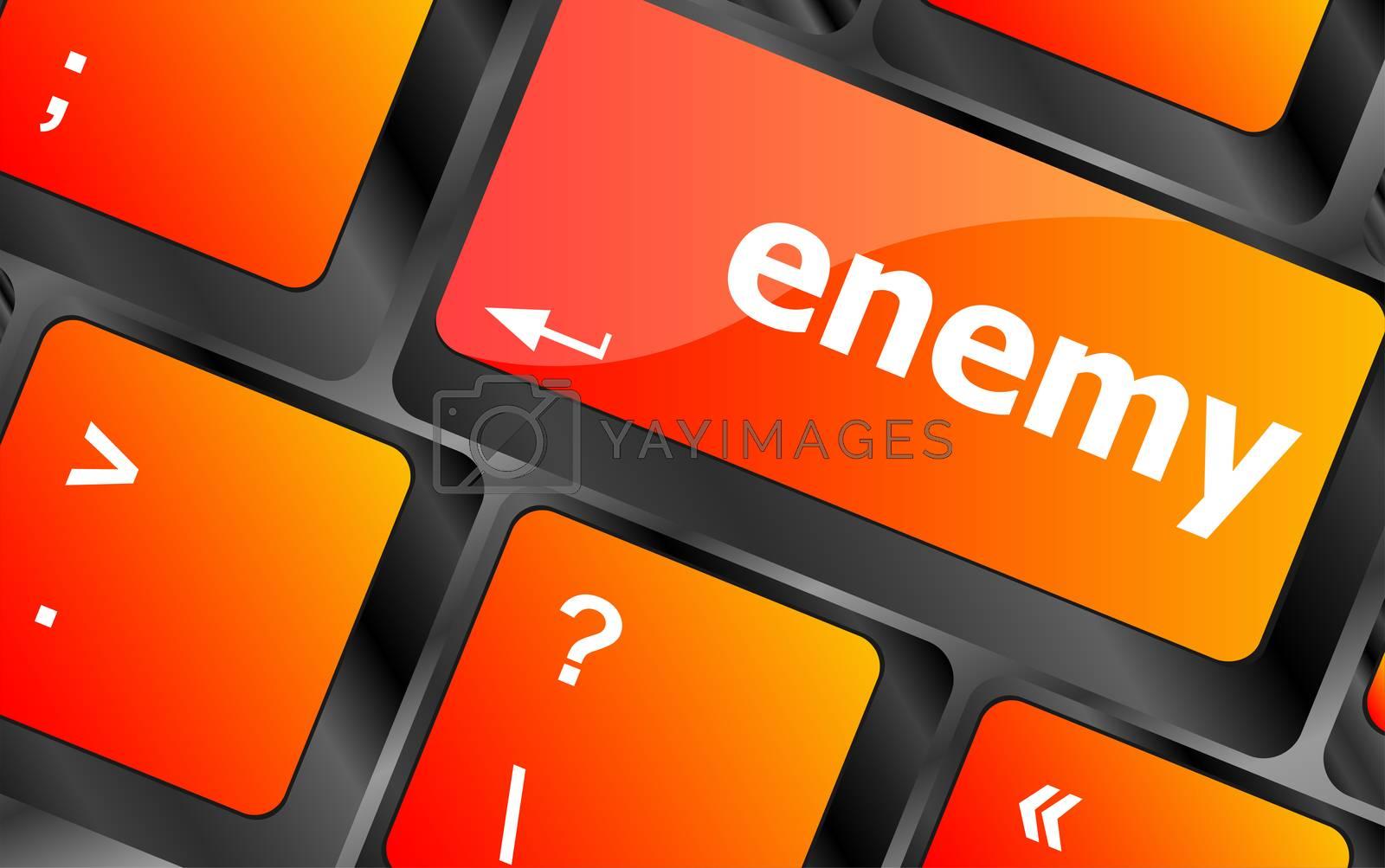 enemy button on computer pc keyboard key
