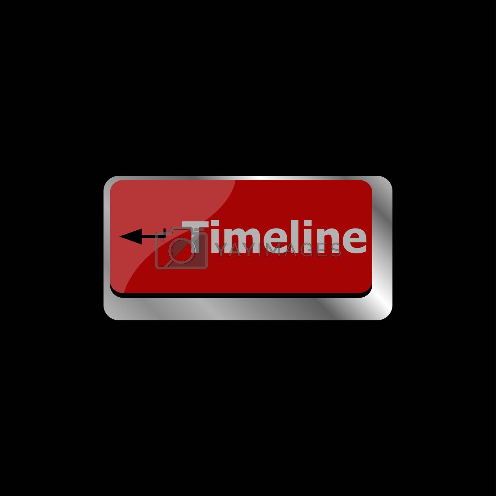timeline concept button on computer keyboard keys