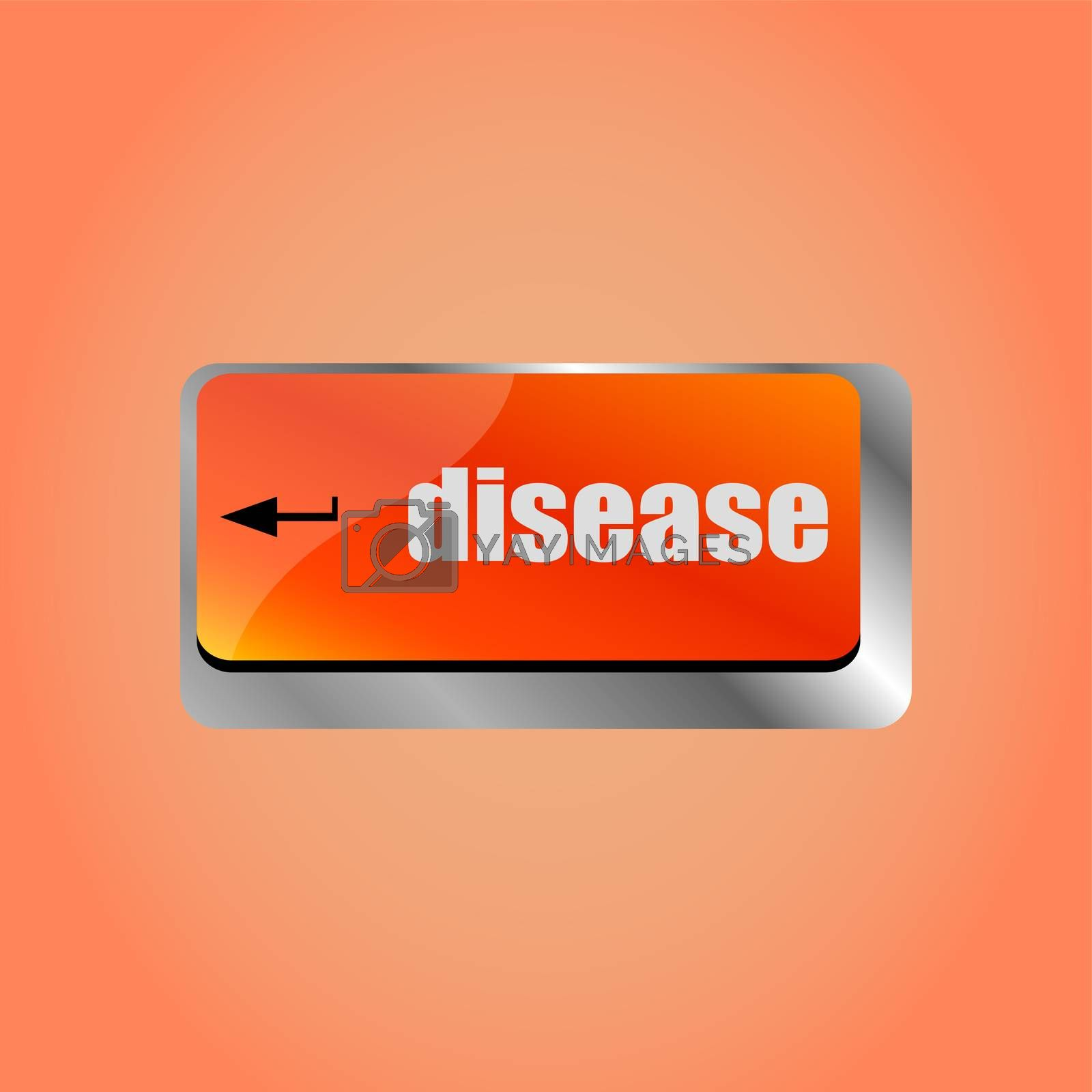 A computer keyboard with enter disease keys