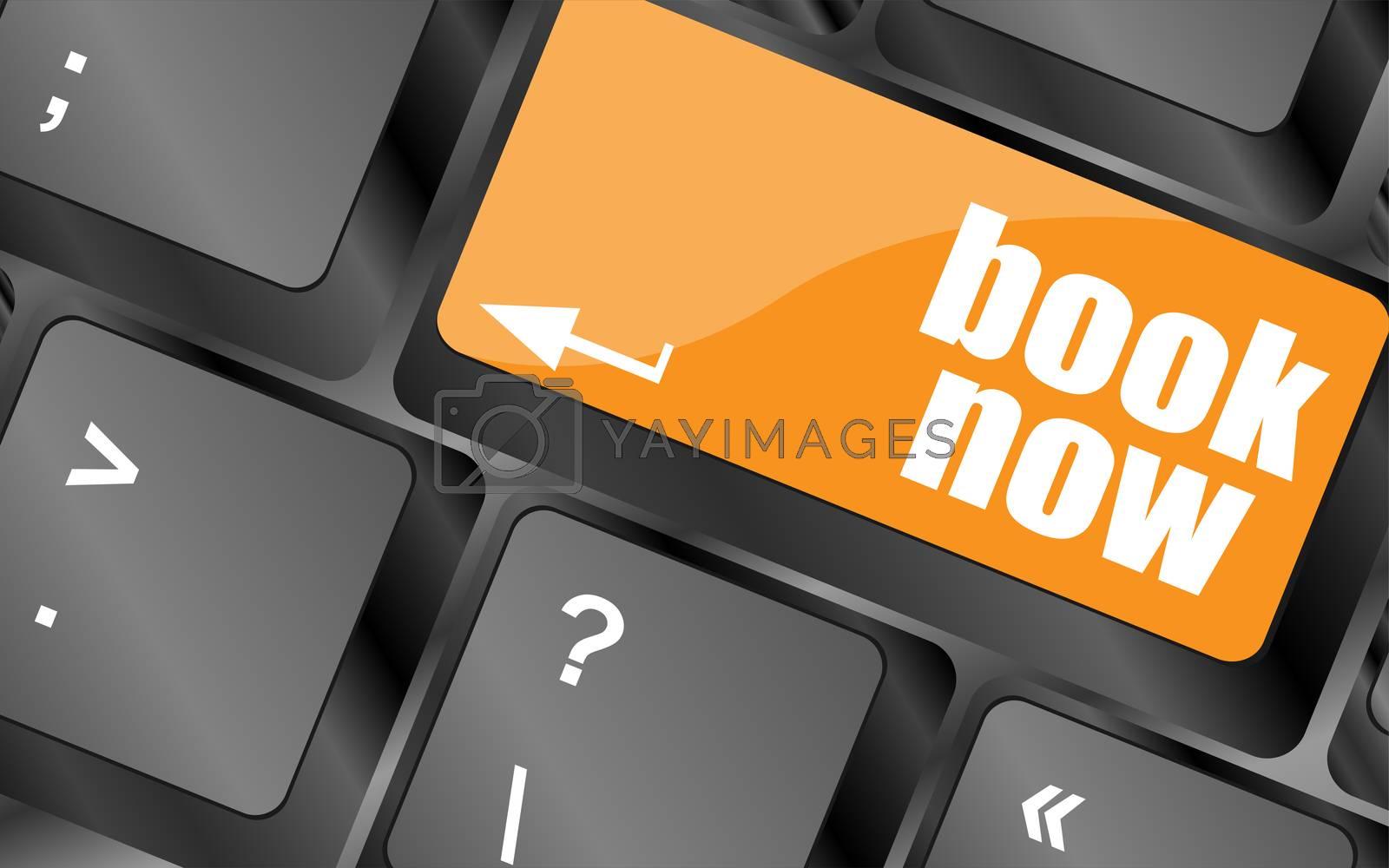Book now button on keyboard key, web icon, web button