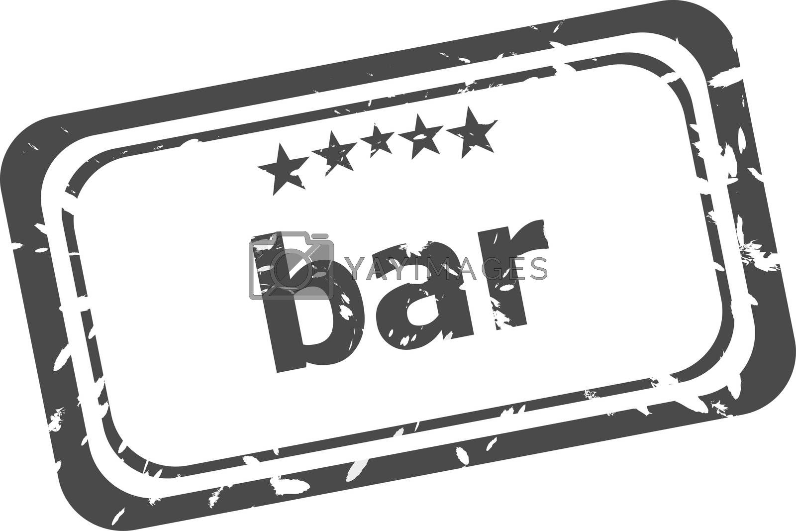 bar grunge rubber stamp isolated on white background