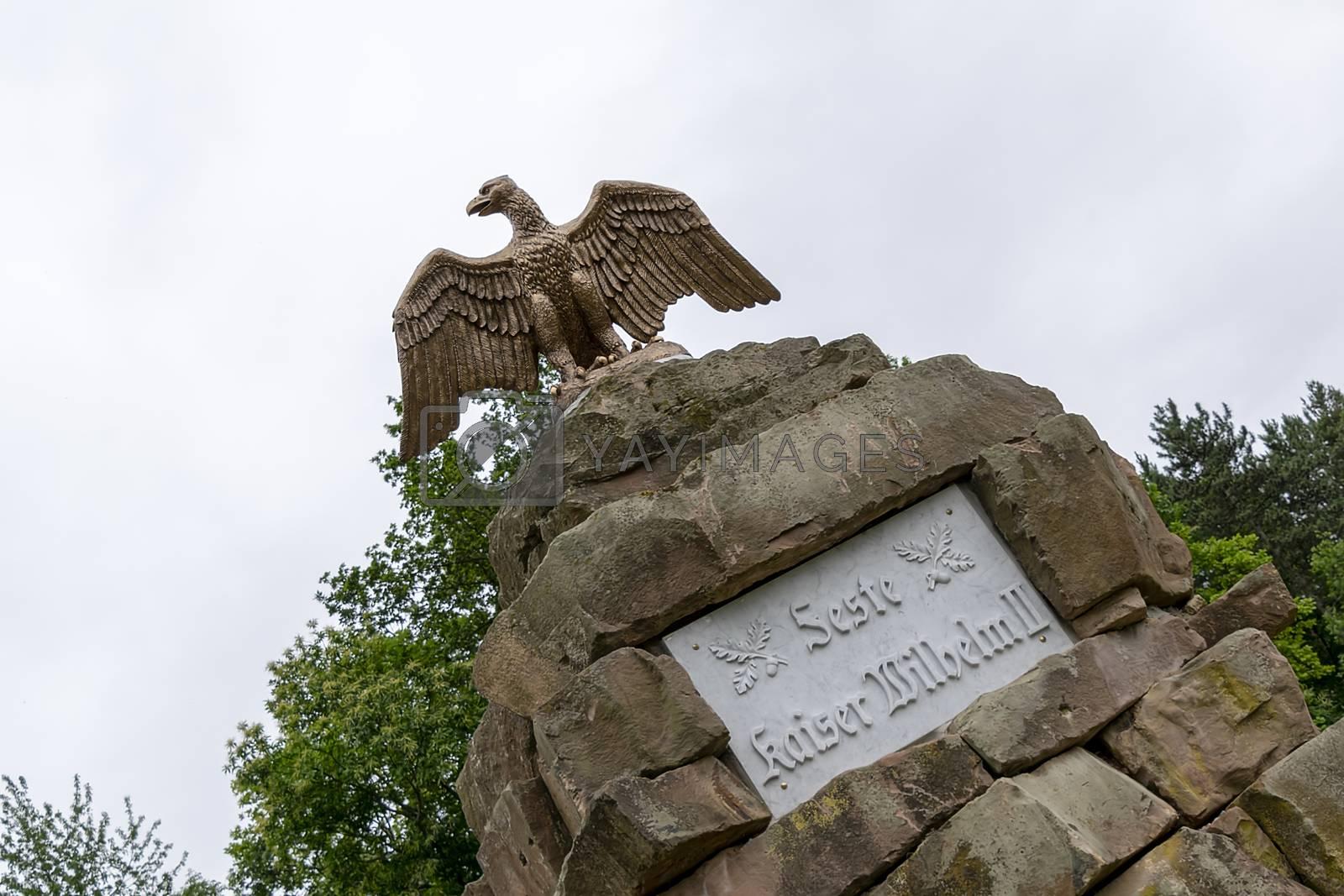"""Namensstein"" at the entrance of the Feste"