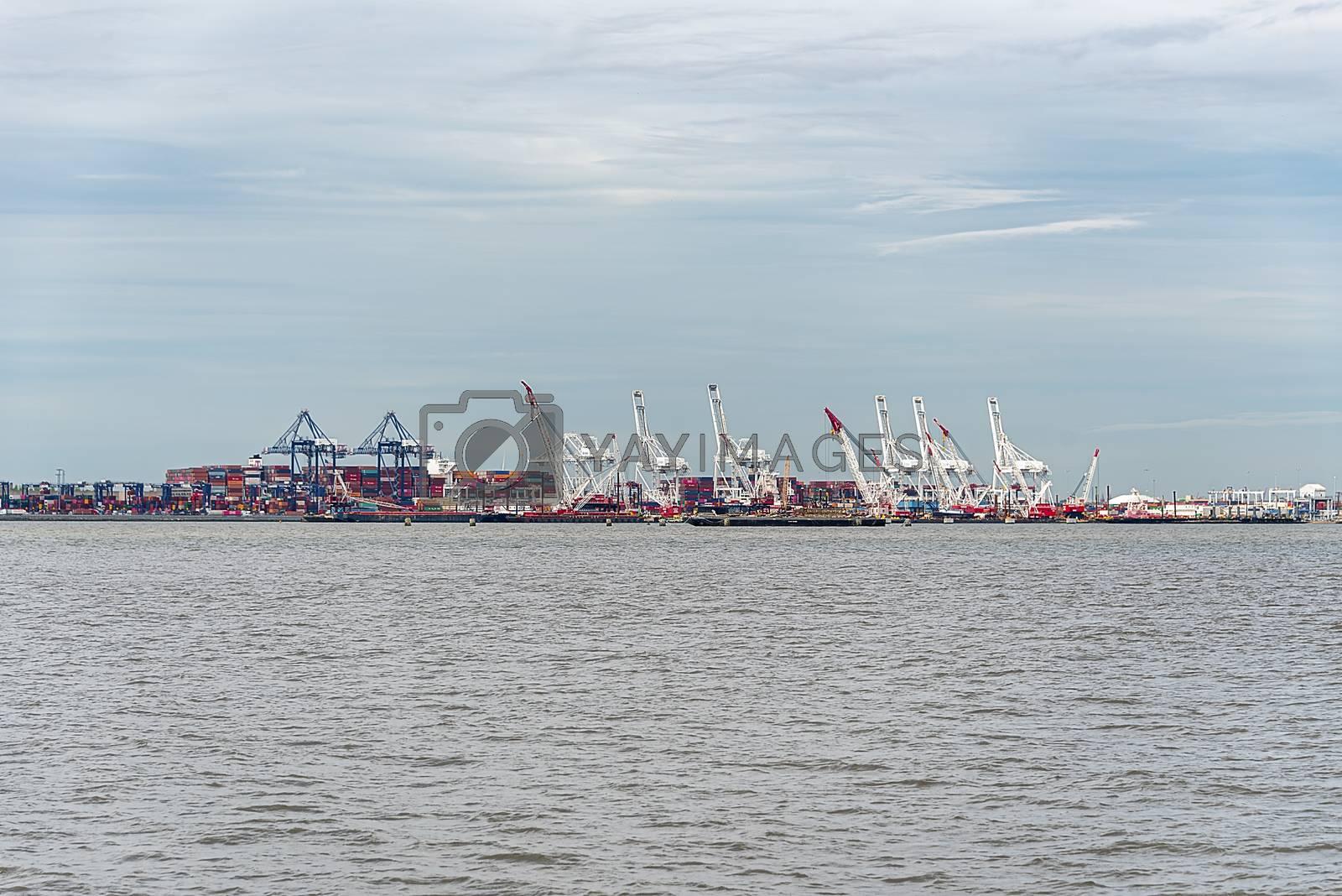 USA, New York - May 2019: NY Shipyards