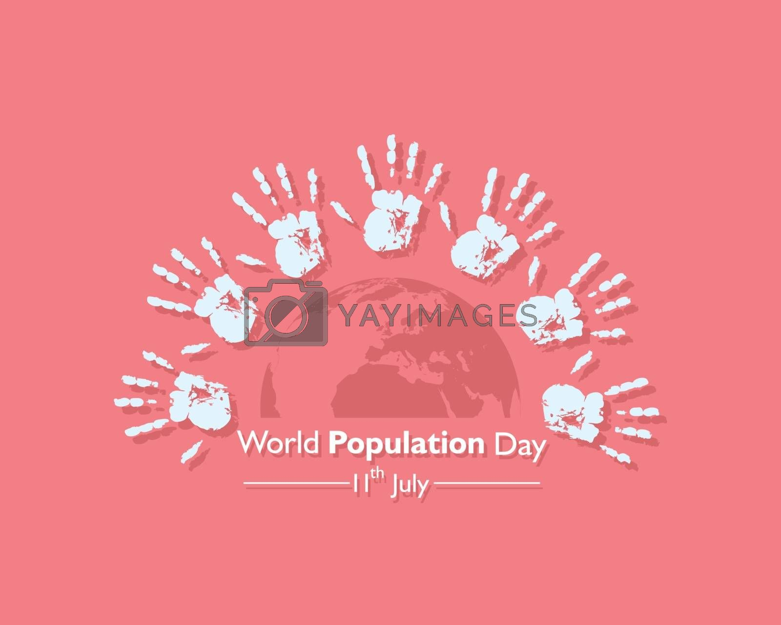 Illustration of World Population Day observed on 11th July