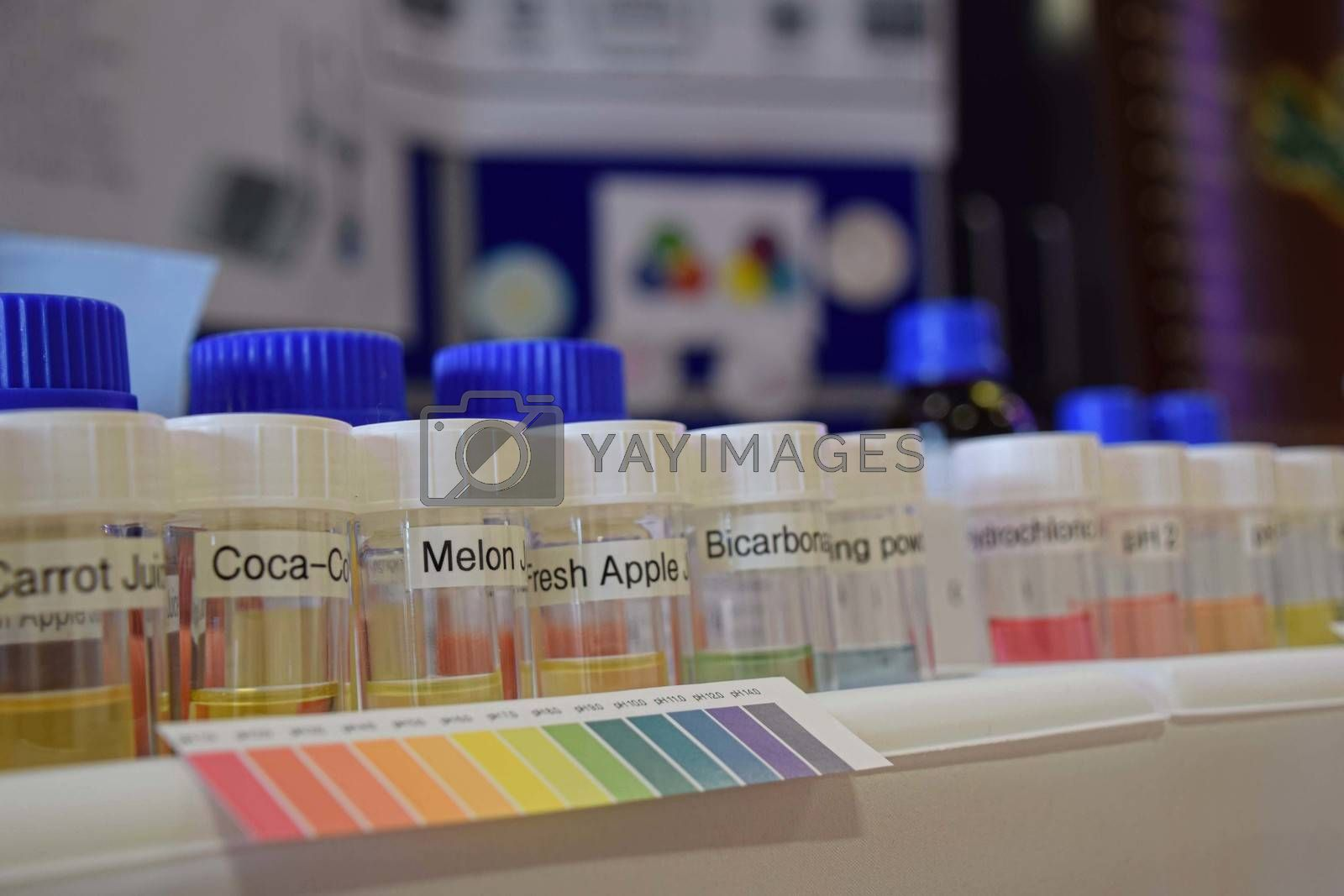 UK, Rothley - June 2015: School science day - chromatology