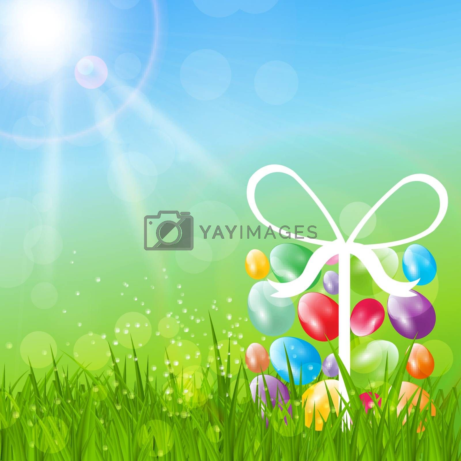 Abstract Easter Background Vector Illustration. Eps 10