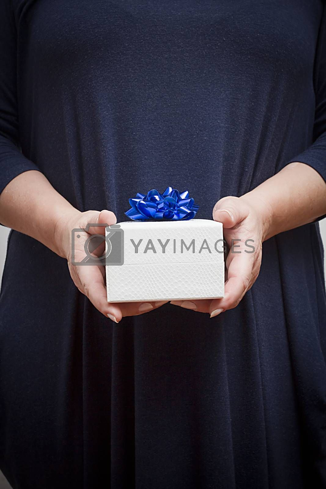 Gift in the hands of a woman