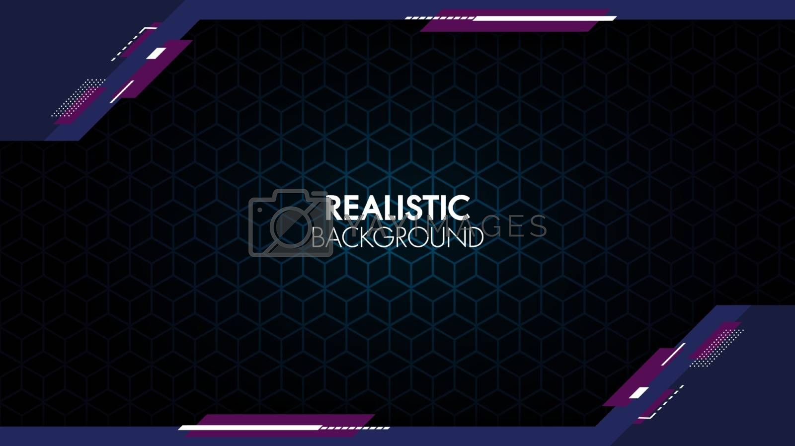 Abstract background gradient design with geometric composition.Futuristic minimal pattern place for text or message.Trendy and modern Cool banner design template.