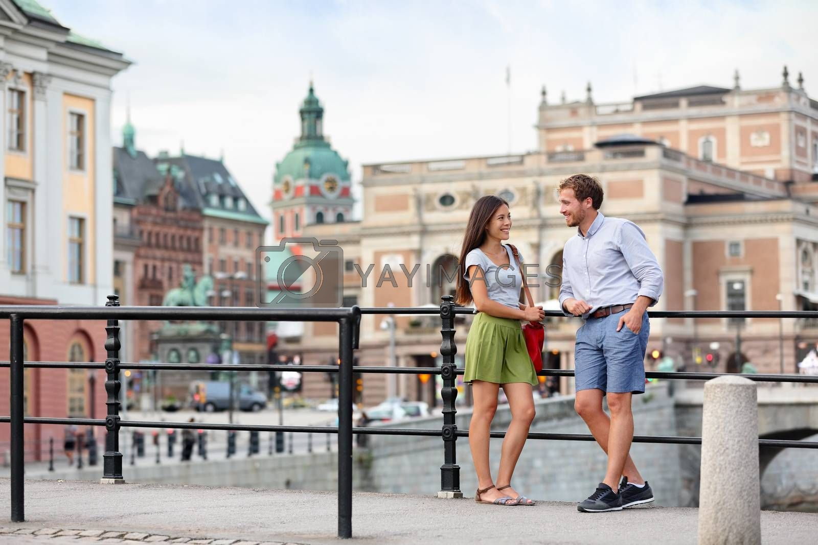 Urban people lifestyle - young couple in Stockholm by Maridav