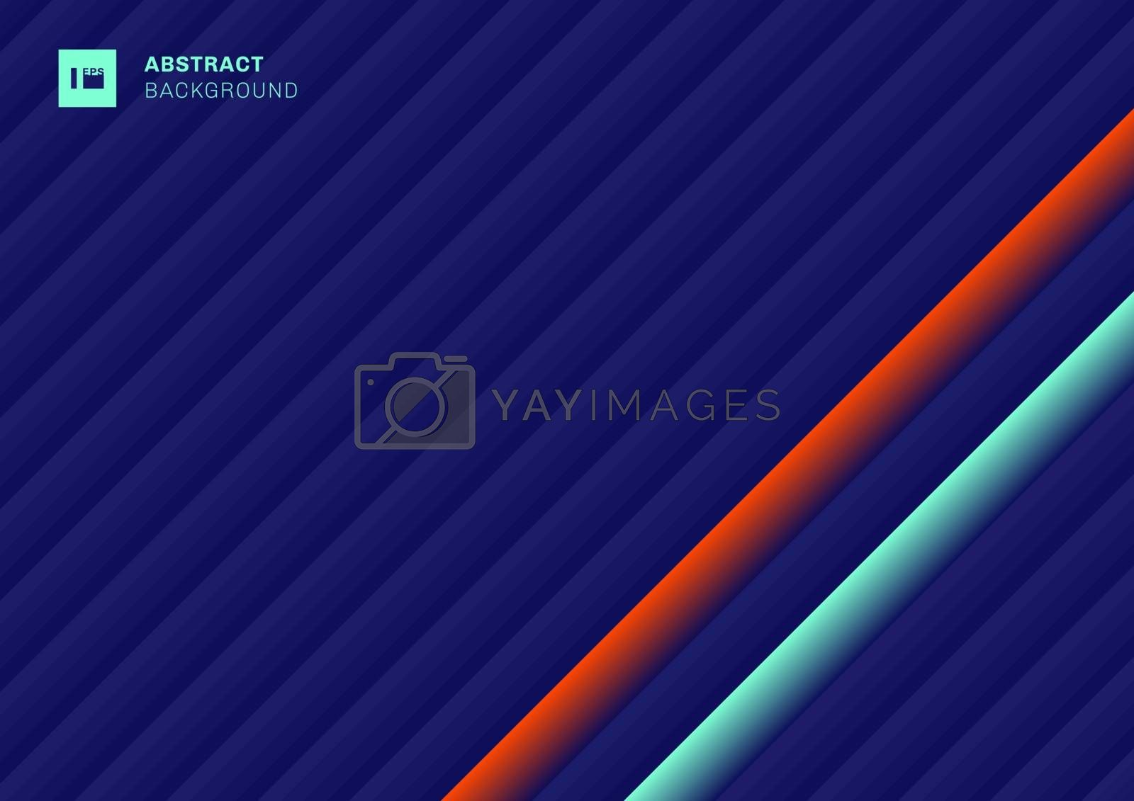 Abstract pattern stripes geometric diagonal lines blue, green, red vibrant color background with space for your text. Vector illustration