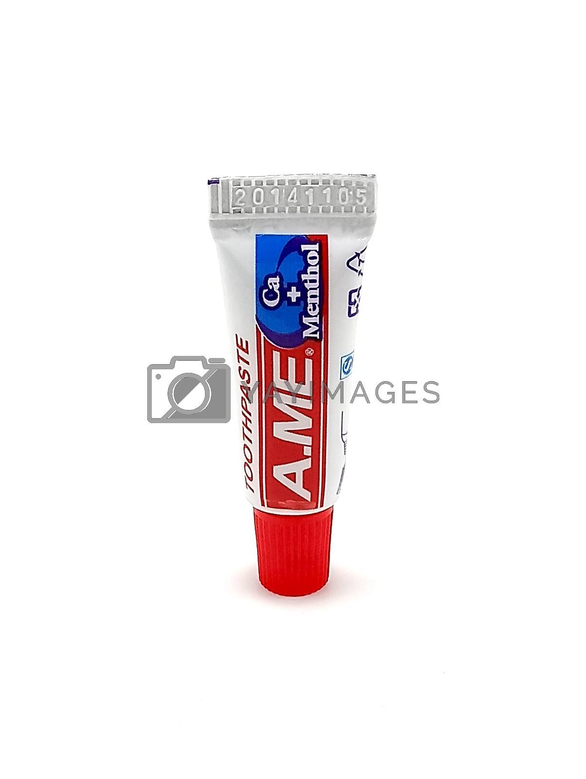 MANILA, PH - JUNE 23 - Ame toothpaste tube on June 23, 2020 in Manila, Philippines.