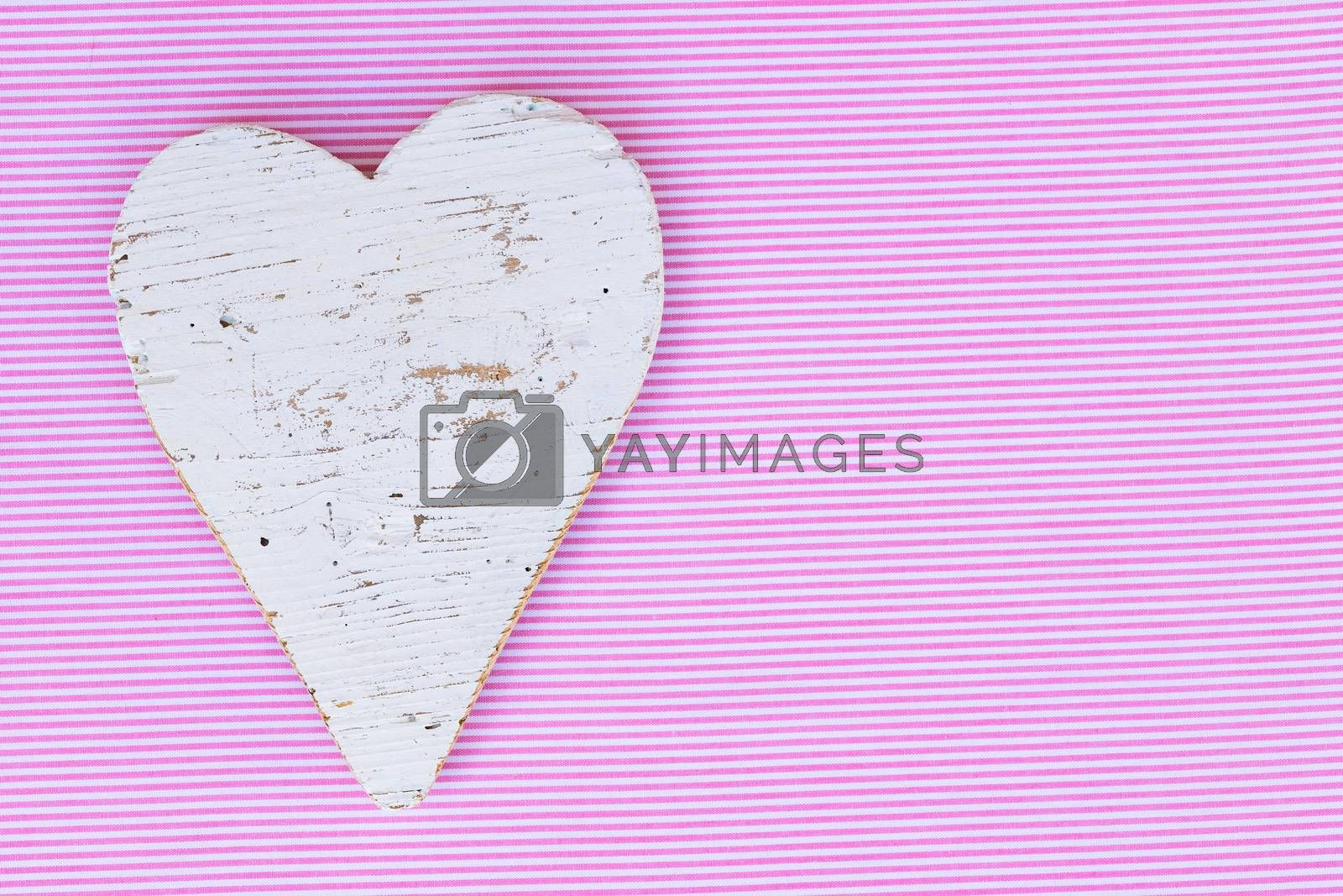 Background for Valentine card with romantic heart and copy space