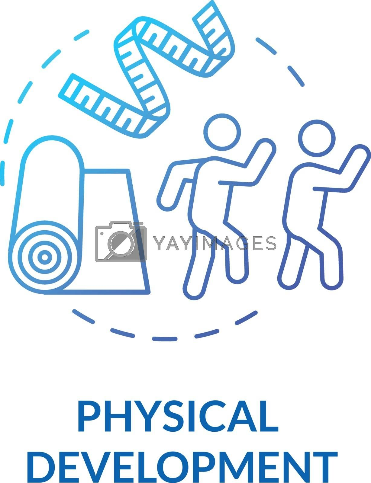 Toddlers physical development concept icon. Early childhood. Preschoolers daycare center. Children playing activities idea thin line illustration. Vector isolated outline RGB color drawing