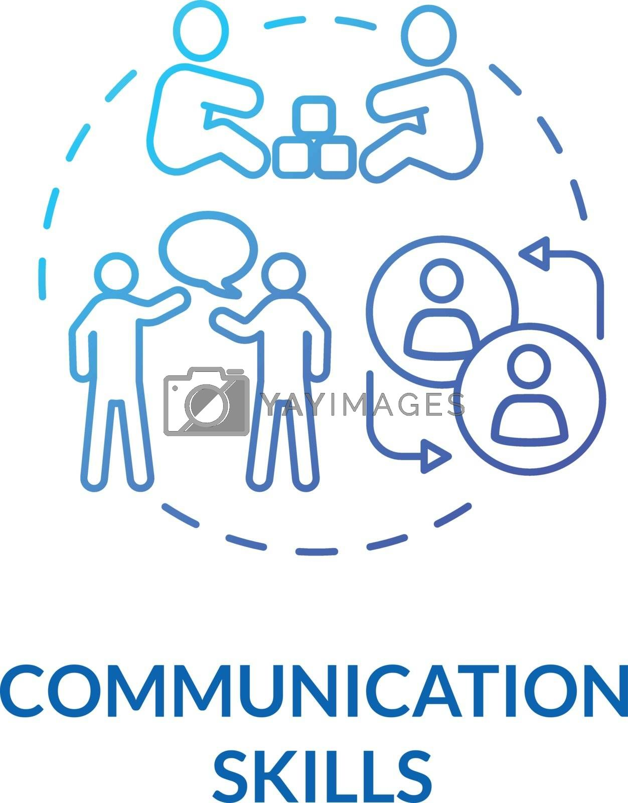 Toddlers communication skills concept icon. Early childhood education and relationships. Children socialization. idea thin line illustration. Vector isolated outline RGB color drawing
