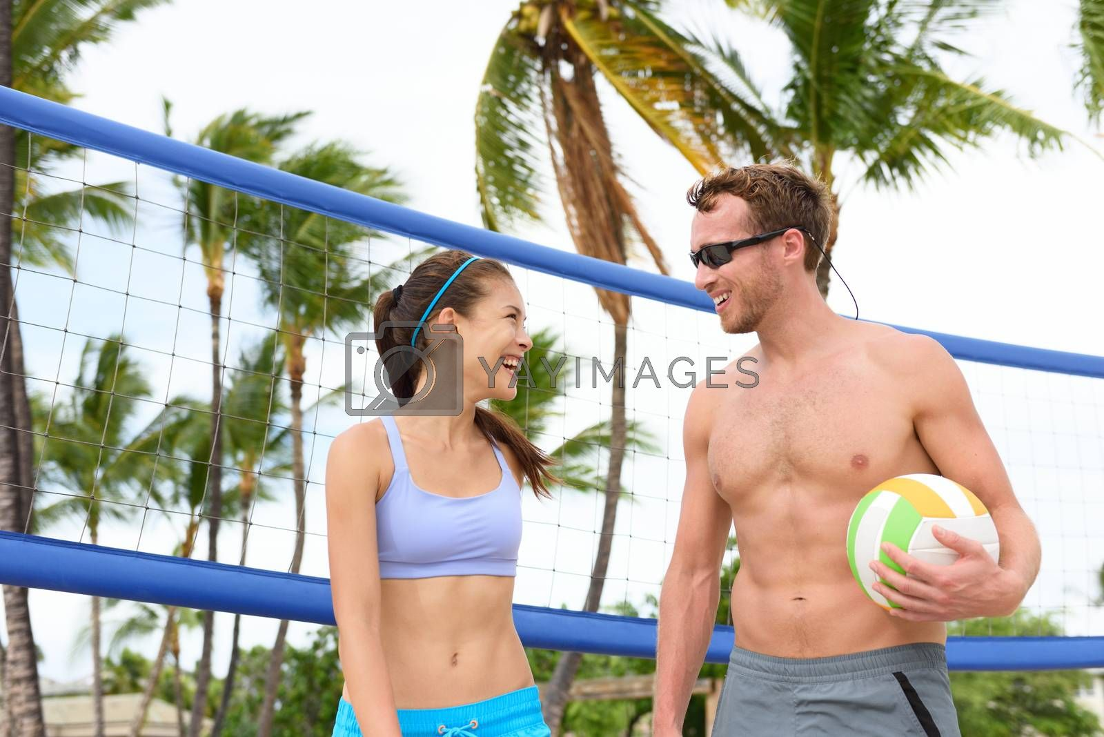 Beach volleyball - people playing active lifestyle by Maridav
