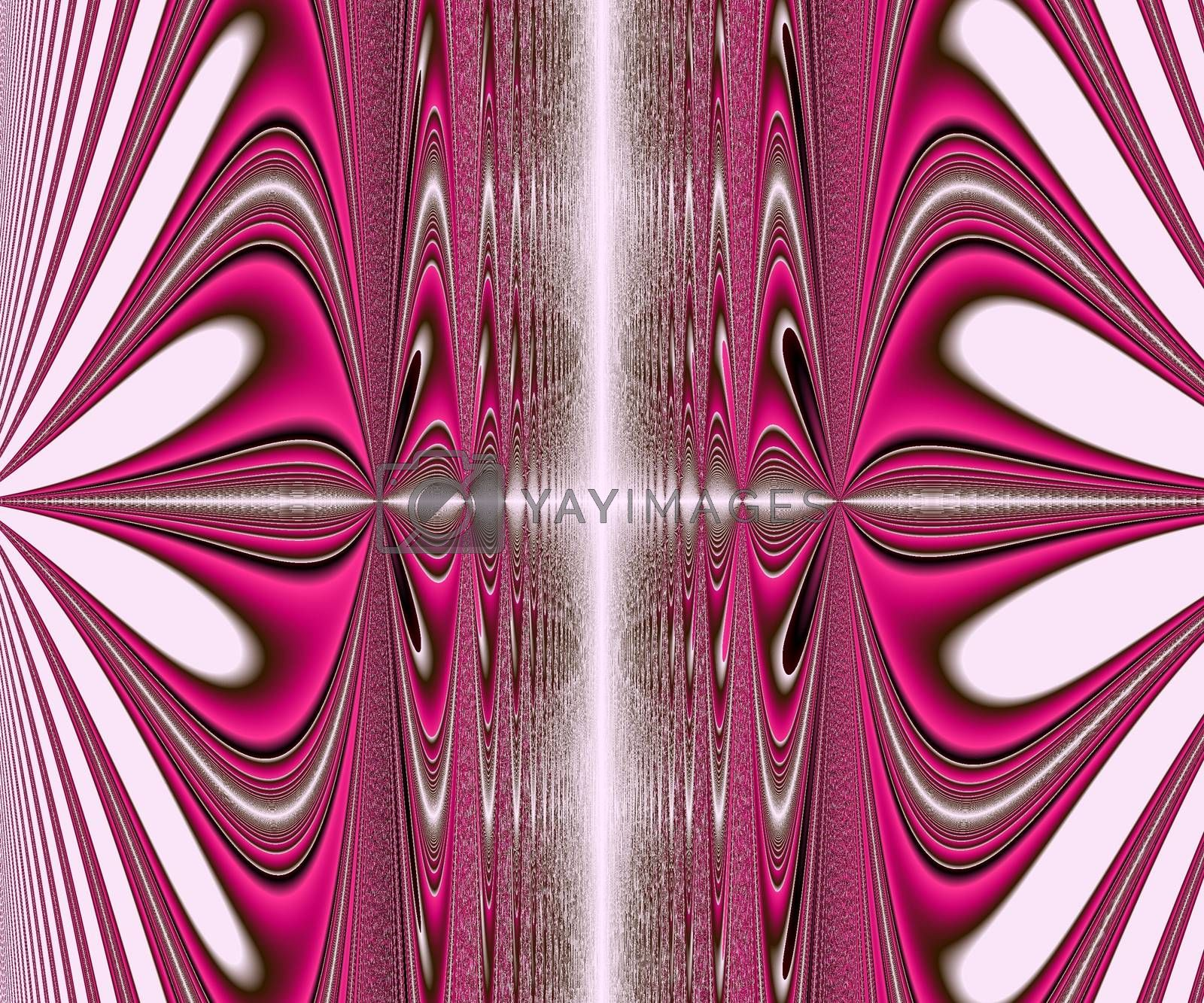 Computer generated abstract colorful fractal artwork for creative design and entertainment