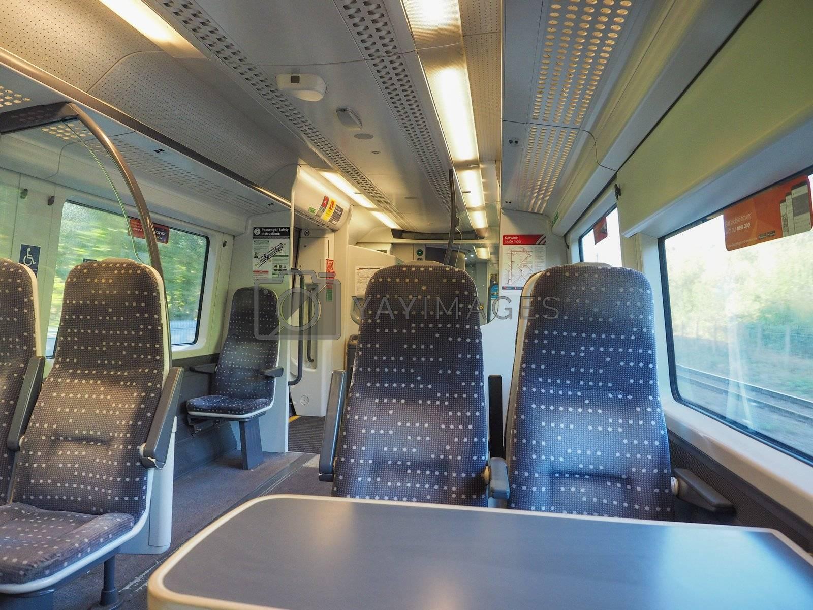 CAMBRIDGE, UK - CIRCA OCTOBER 2018: train interior