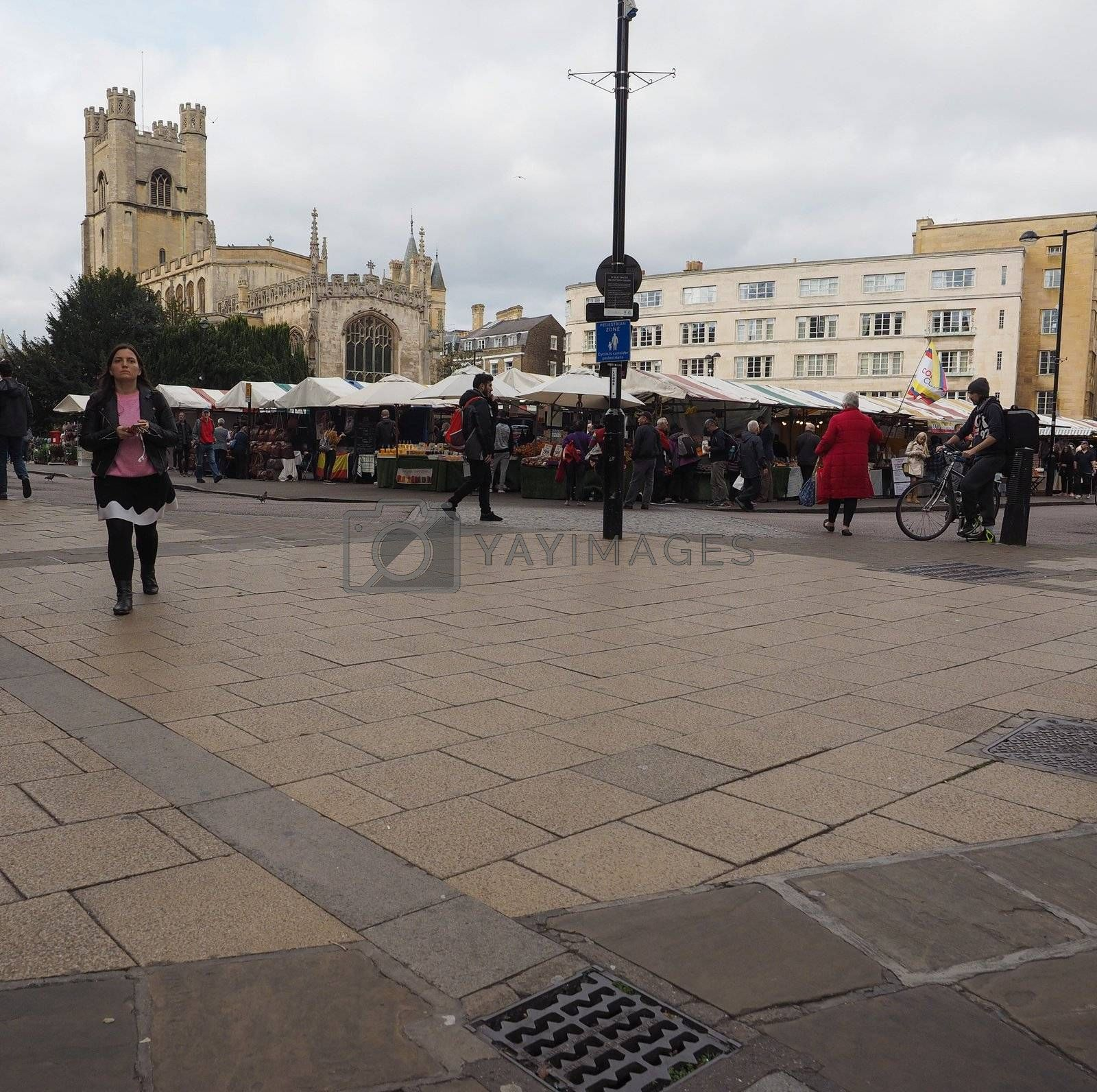 CAMBRIDGE, UK - CIRCA OCTOBER 2018: People in the city centre