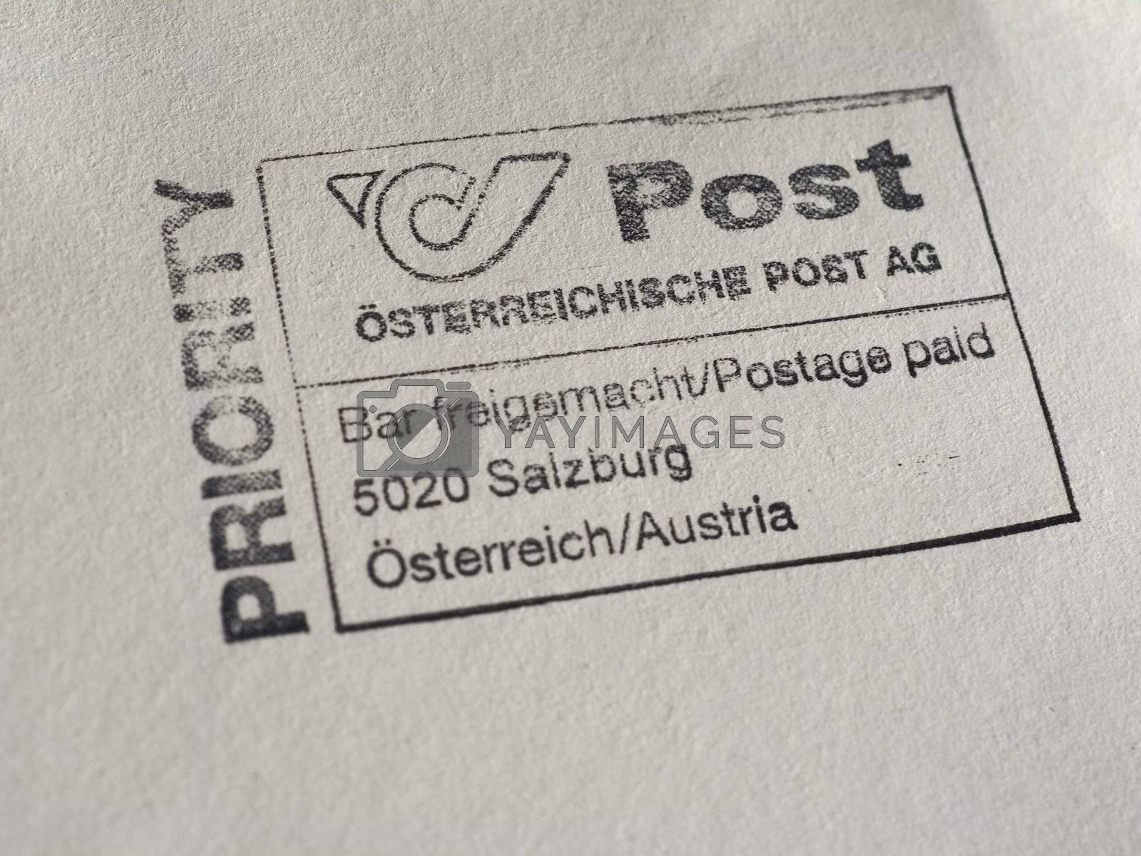 WIEN, AUSTRIA - CIRCA JANUARY 2020: Austrian postage meter
