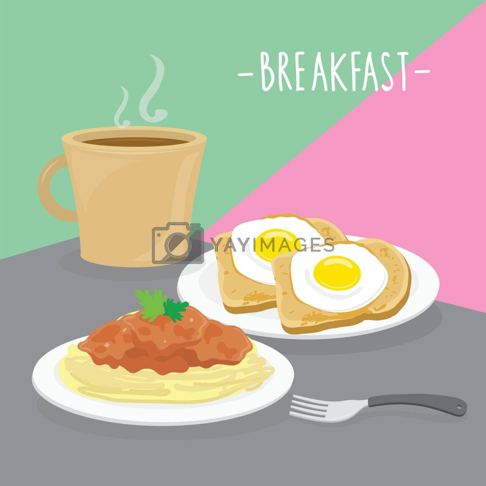 Food Meal Breakfast Dairy Eat Drink Menu Restaurant Vector