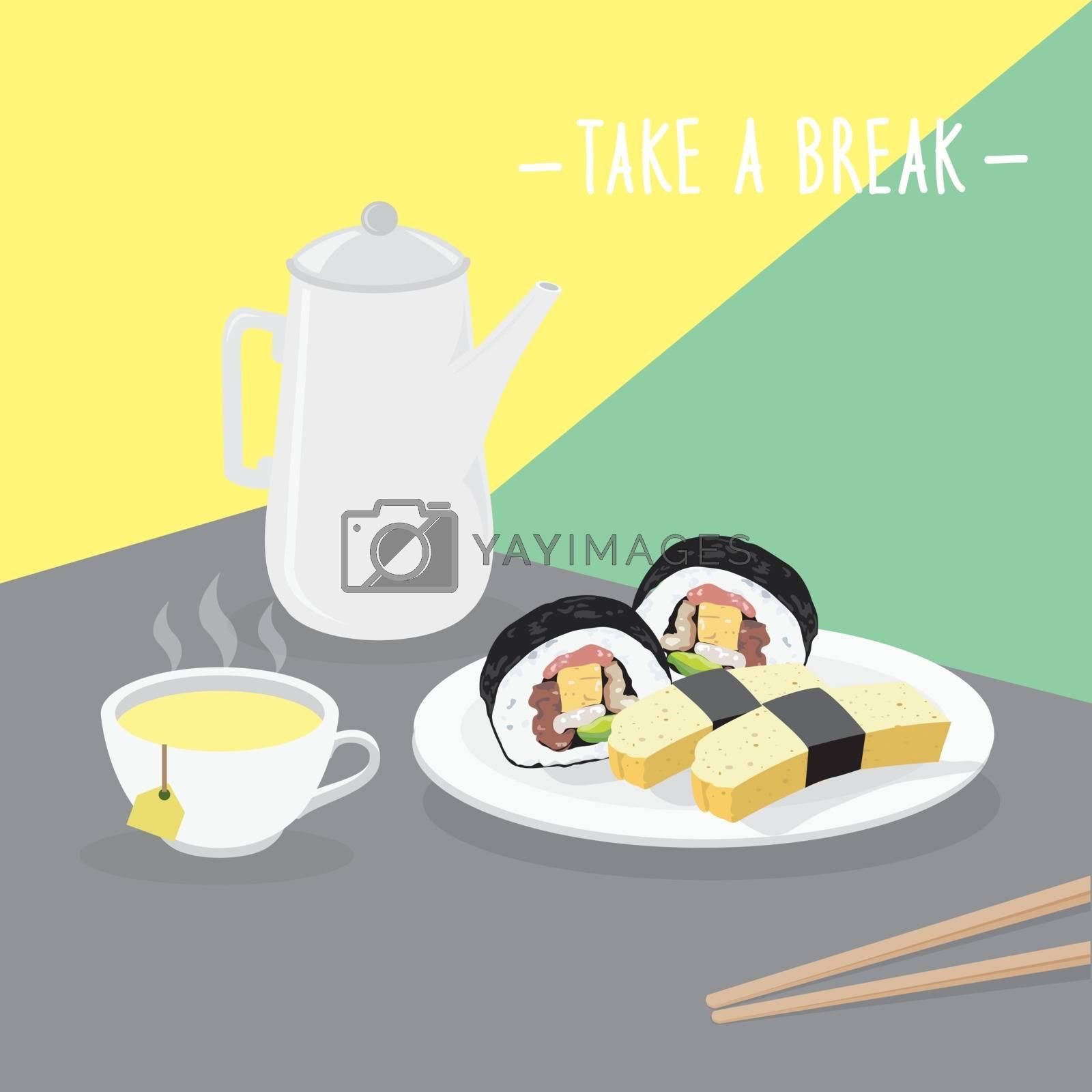 Food Meal Take A Break Dairy Eat Drink Menu Restaurant Vector
