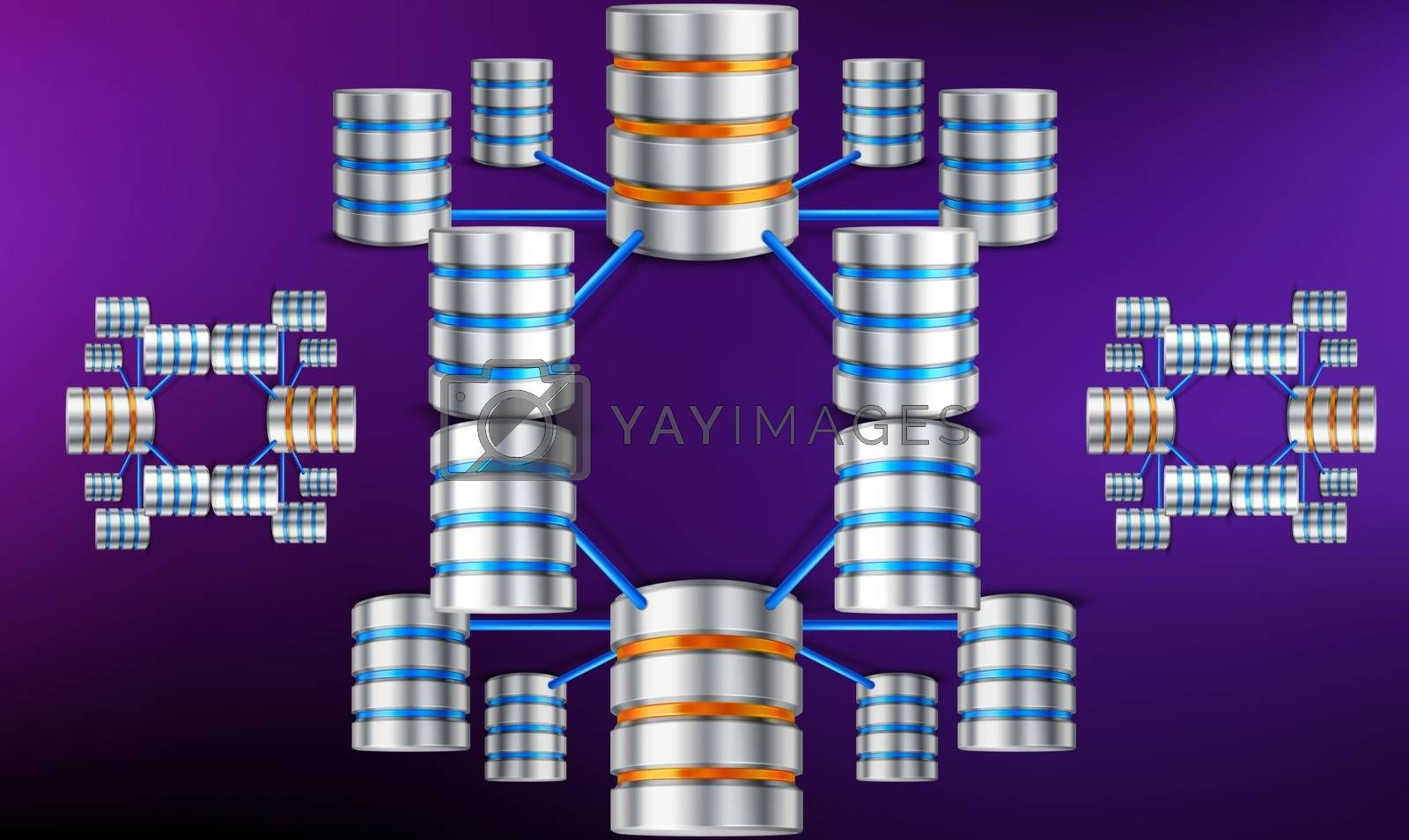 digital textile design of data security network on abstract background