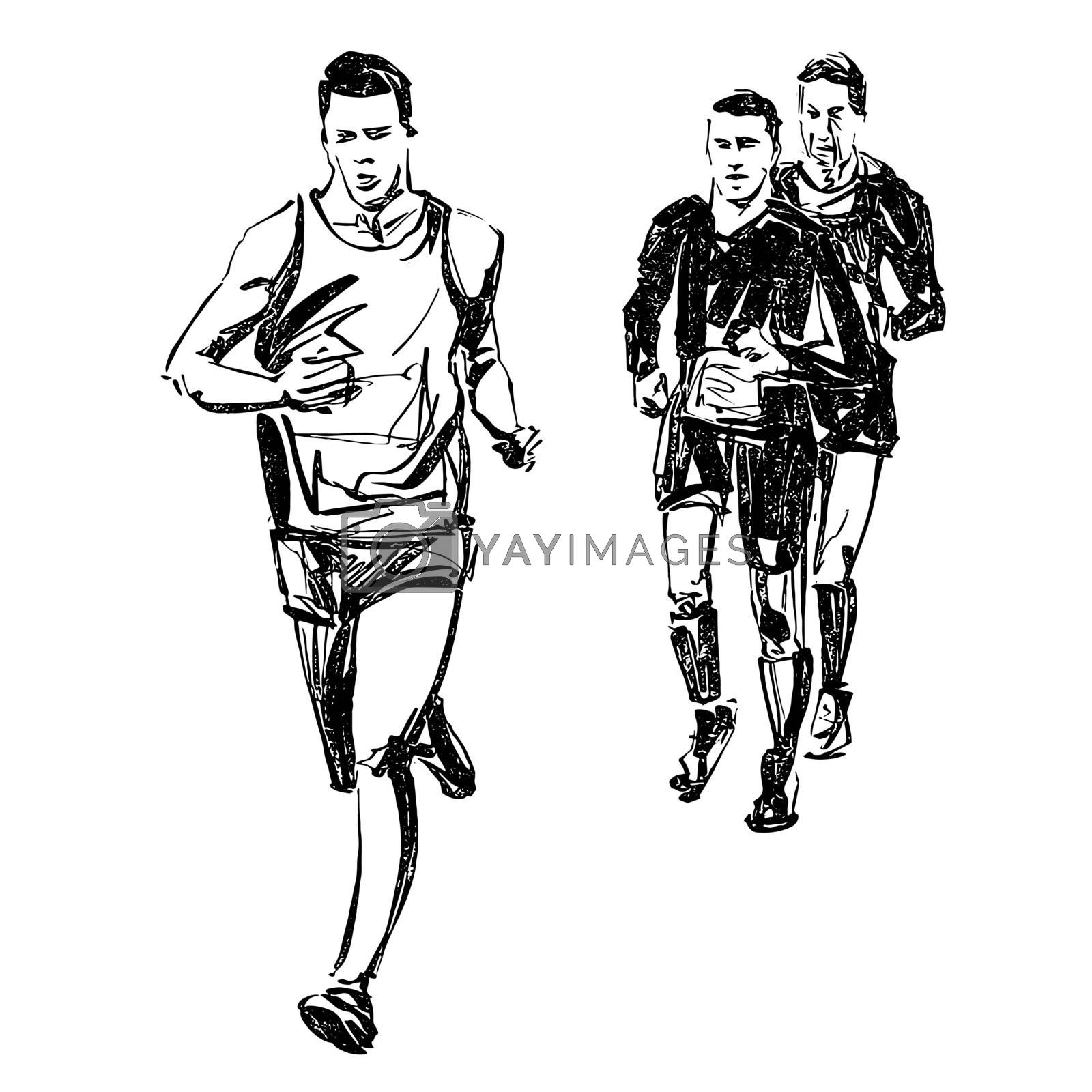 Drawing of the running