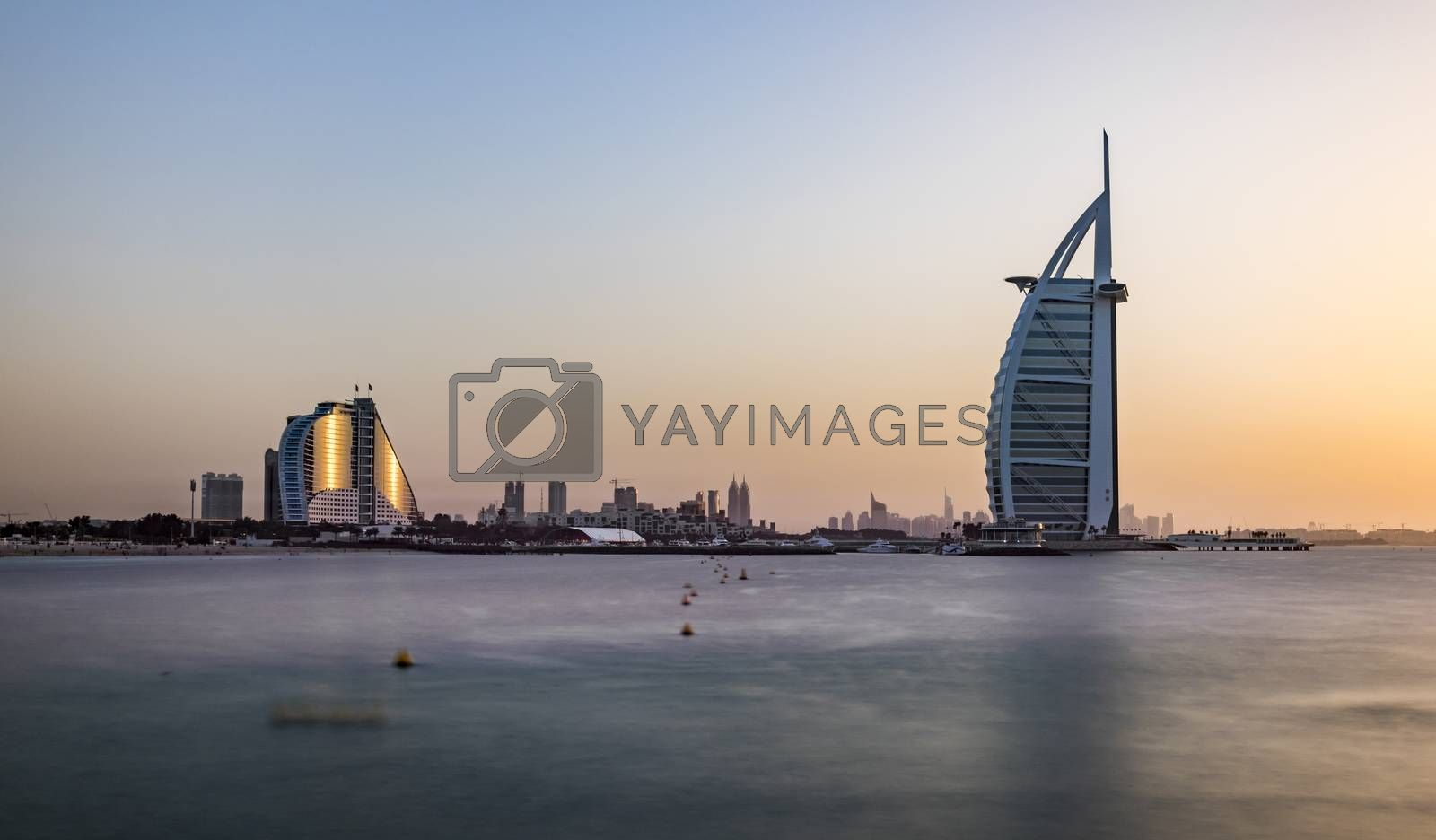 Dubai Jumeirah Beach and Burj Al Arab hotels, UAE