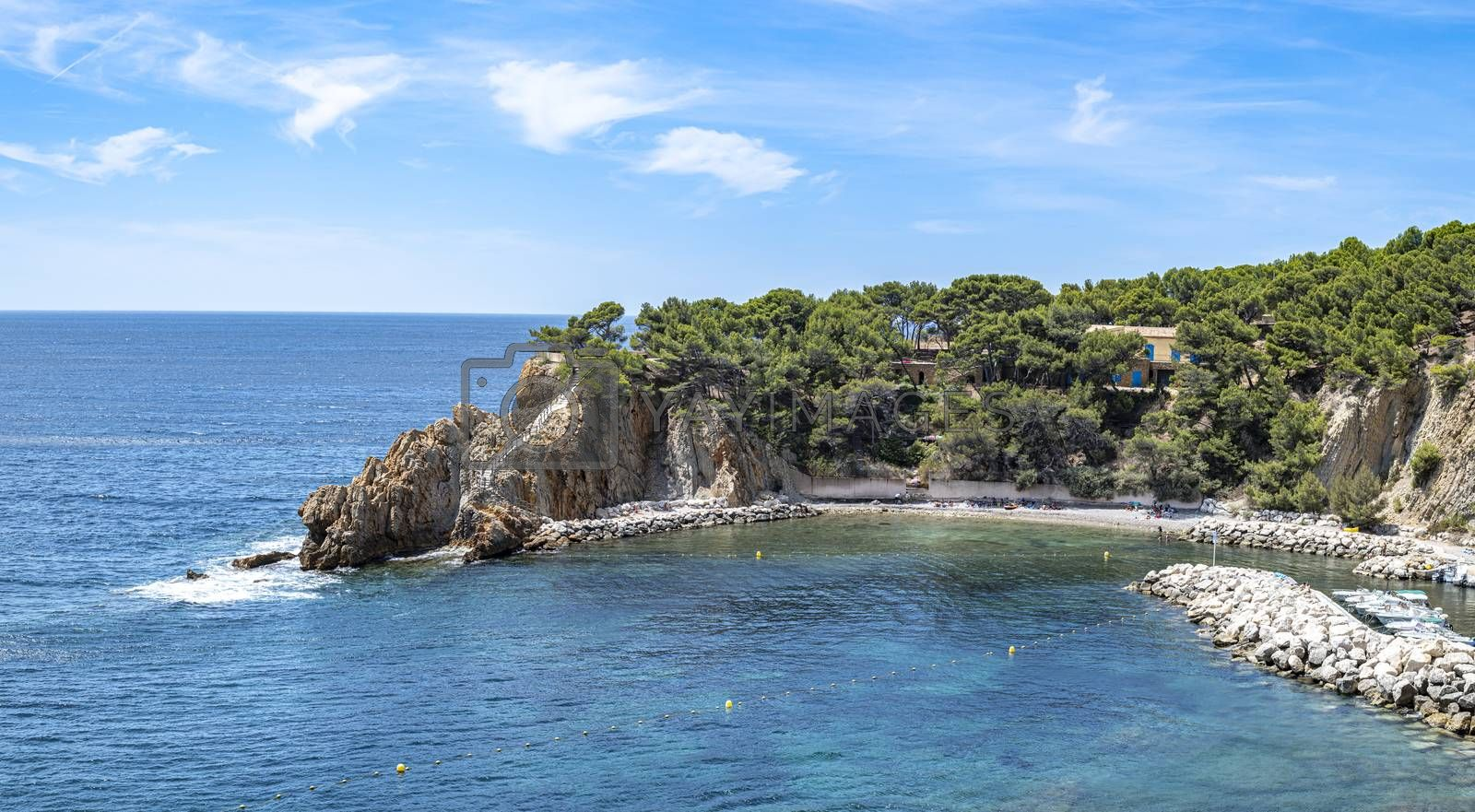 Royalty free image of Calanque de Figuières, South of France by GABIS