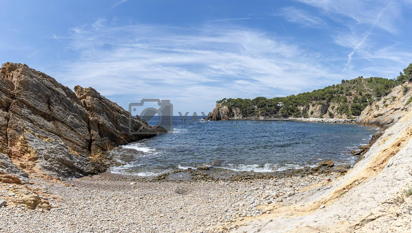 pebble beach of Calanques of Figuieres, France by GABIS