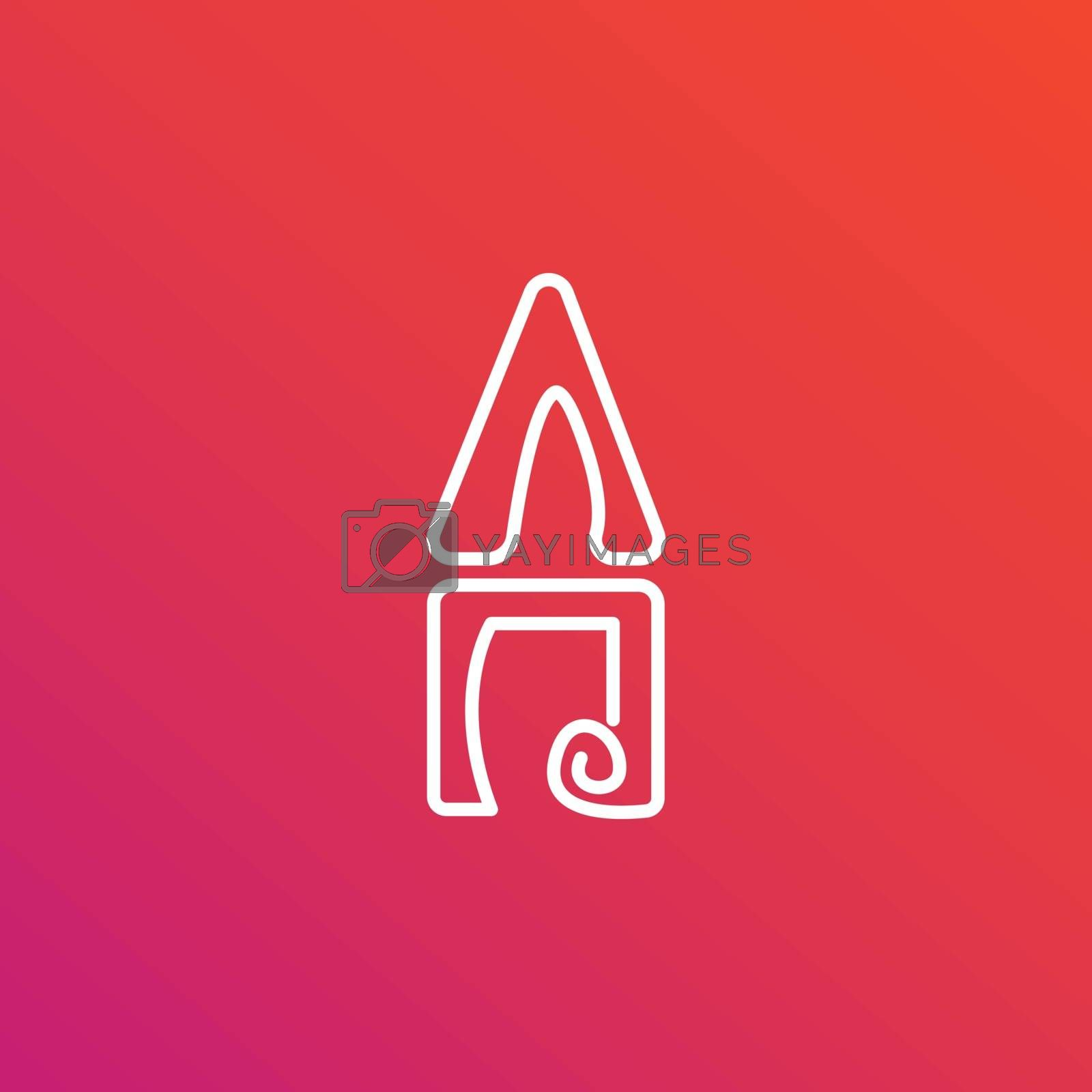 abstract letter a logo design. flat letter logo with gradient background