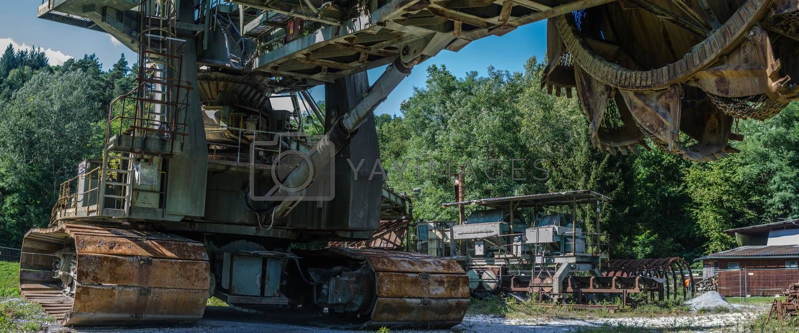 bucket wheel excavator detail panorama view