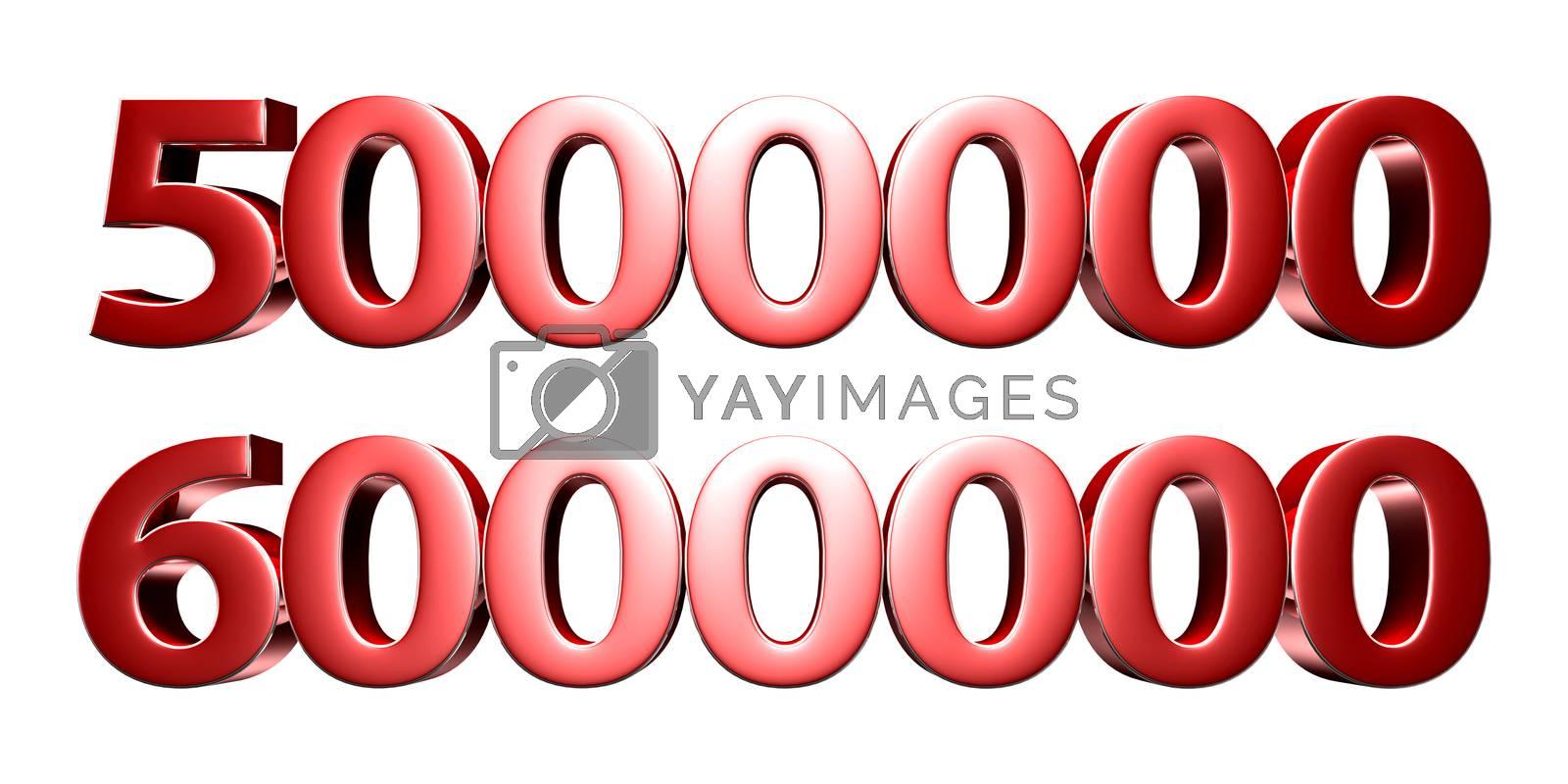 5 million and 6 million 3d. by thitimontoyai