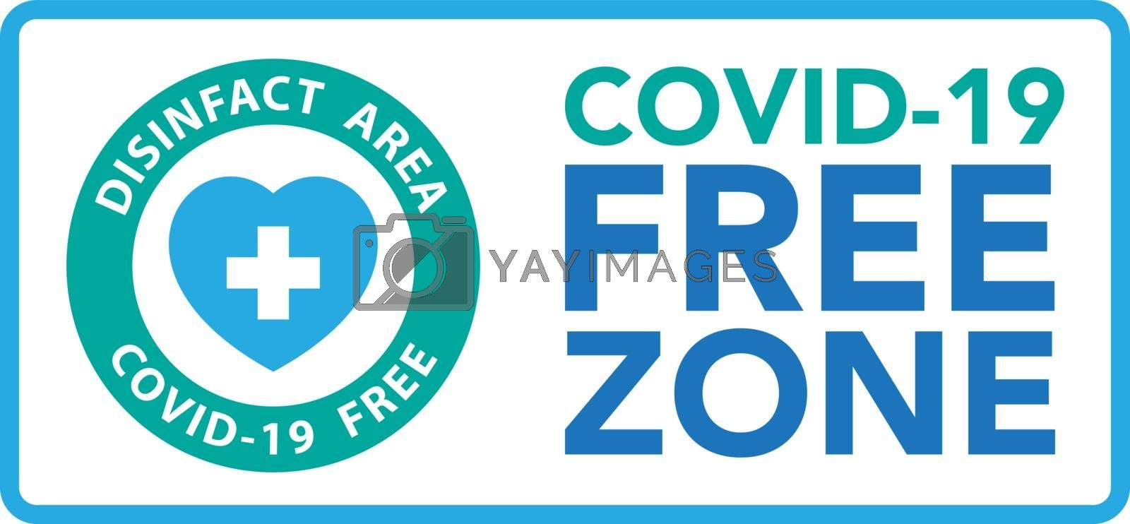 Covid free zone sign symbol by kanate