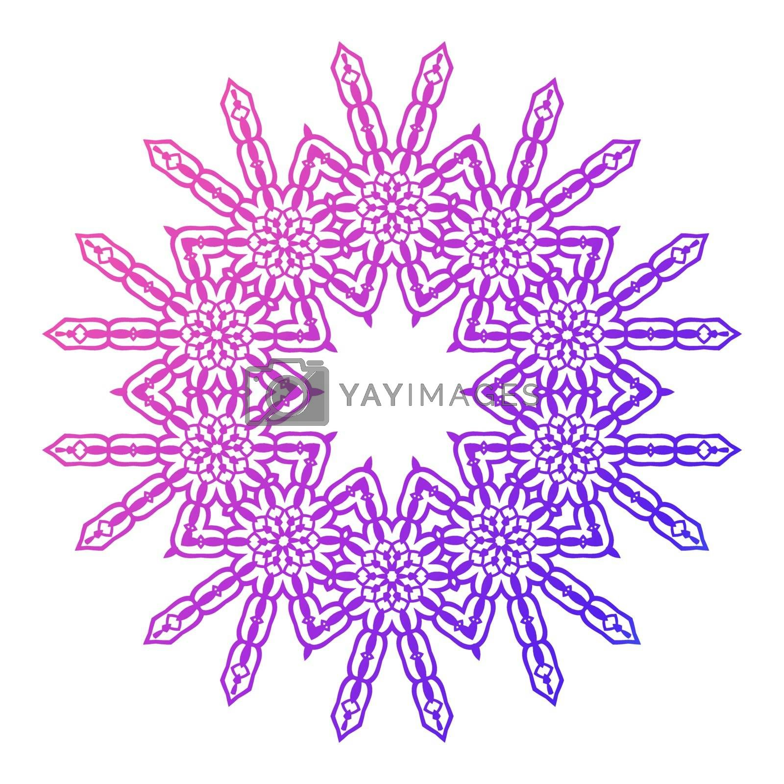 Mandala. Vintage decorative elements. Hand drawn background. Islam, Arabic Indian ottoman motifs