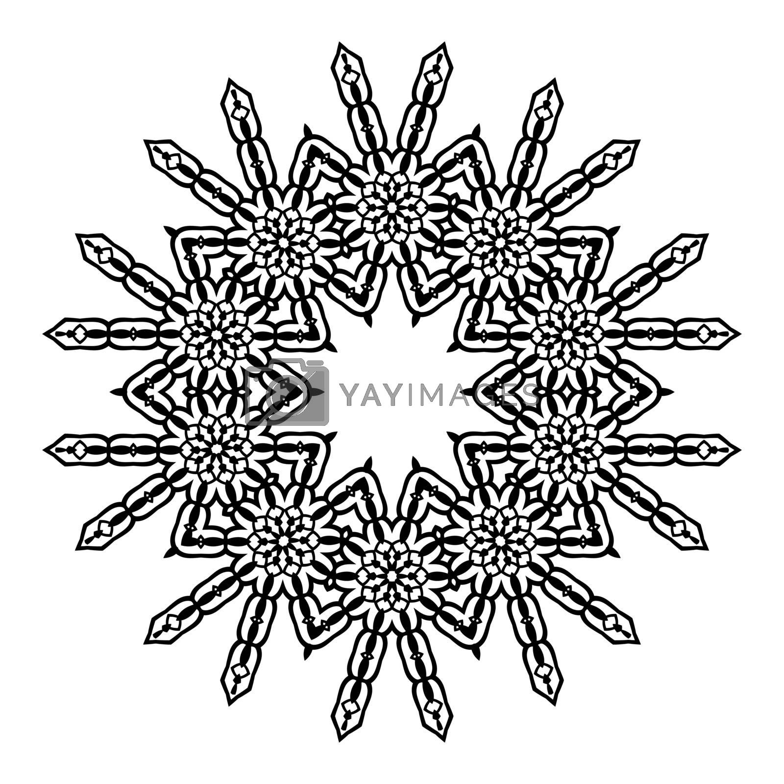 Mandala. Ethnic decorative elements. Hand drawn background. Islam, Arabic Indian ottoman motifs