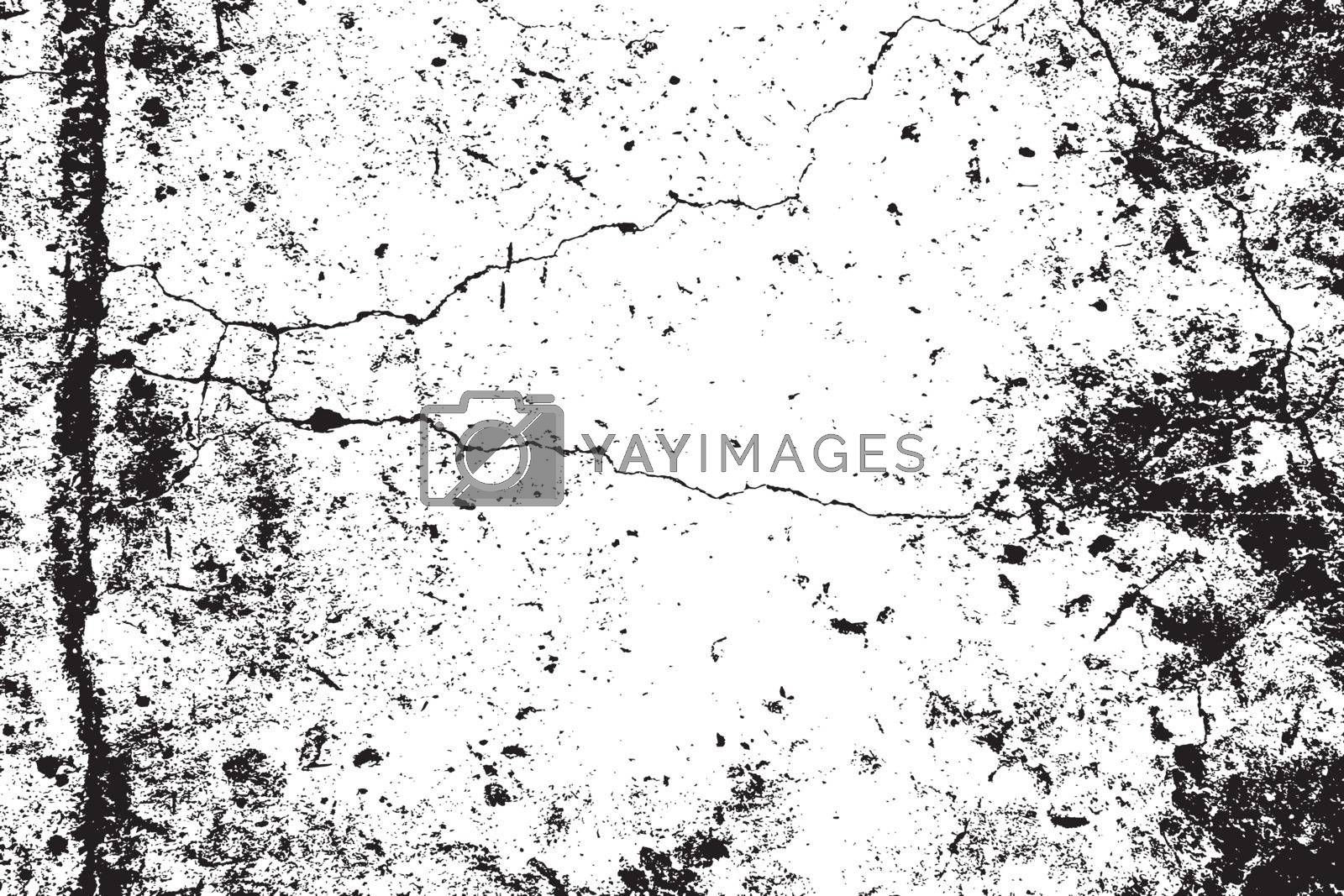 Distress urban used texture. Grunge rough dirty background. Brushed black paint cover. Overlay aged grainy messy template. Renovate wall frame grimy backdrop. Empty aging design element. EPS10 vector.