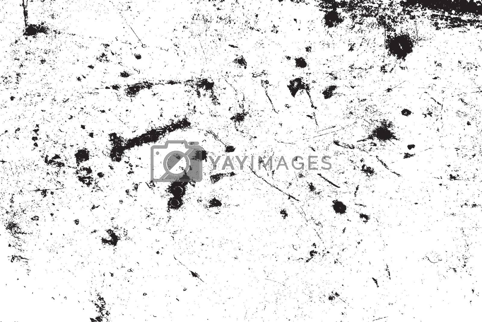 Distress urban used texture. Overlay aged grainy messy template. Grunge rough dirty background. Brushed black paint cover. Renovate wall scratched backdrop. Empty aging design element. EPS10 vector.
