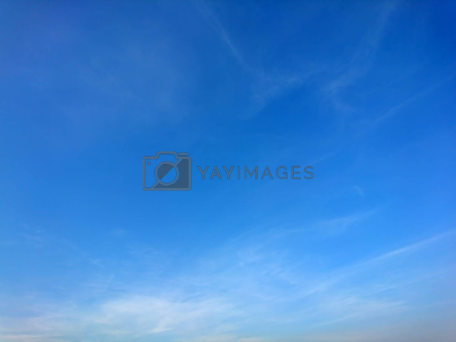 Background of blue sky with white cloud