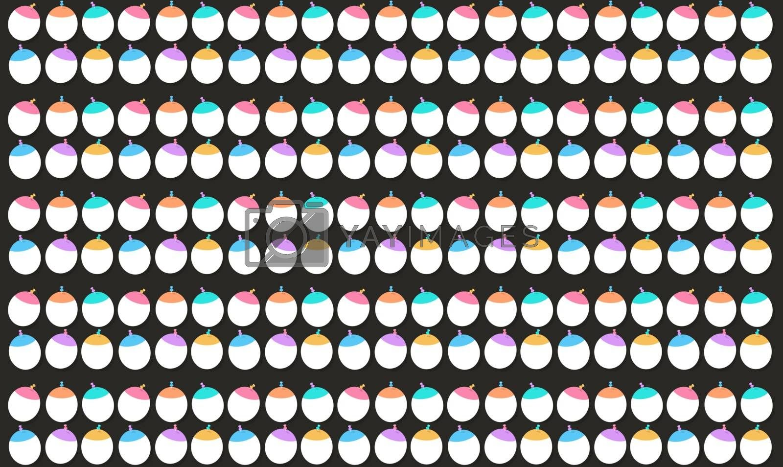 digital textile design of balloon on abstract background