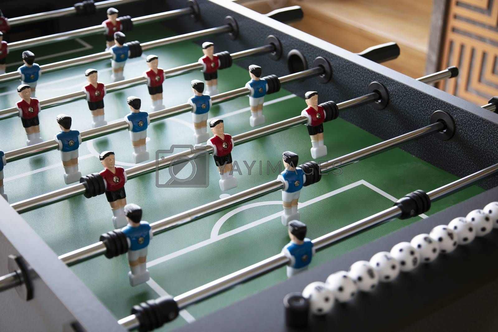 Table football is children toy in home