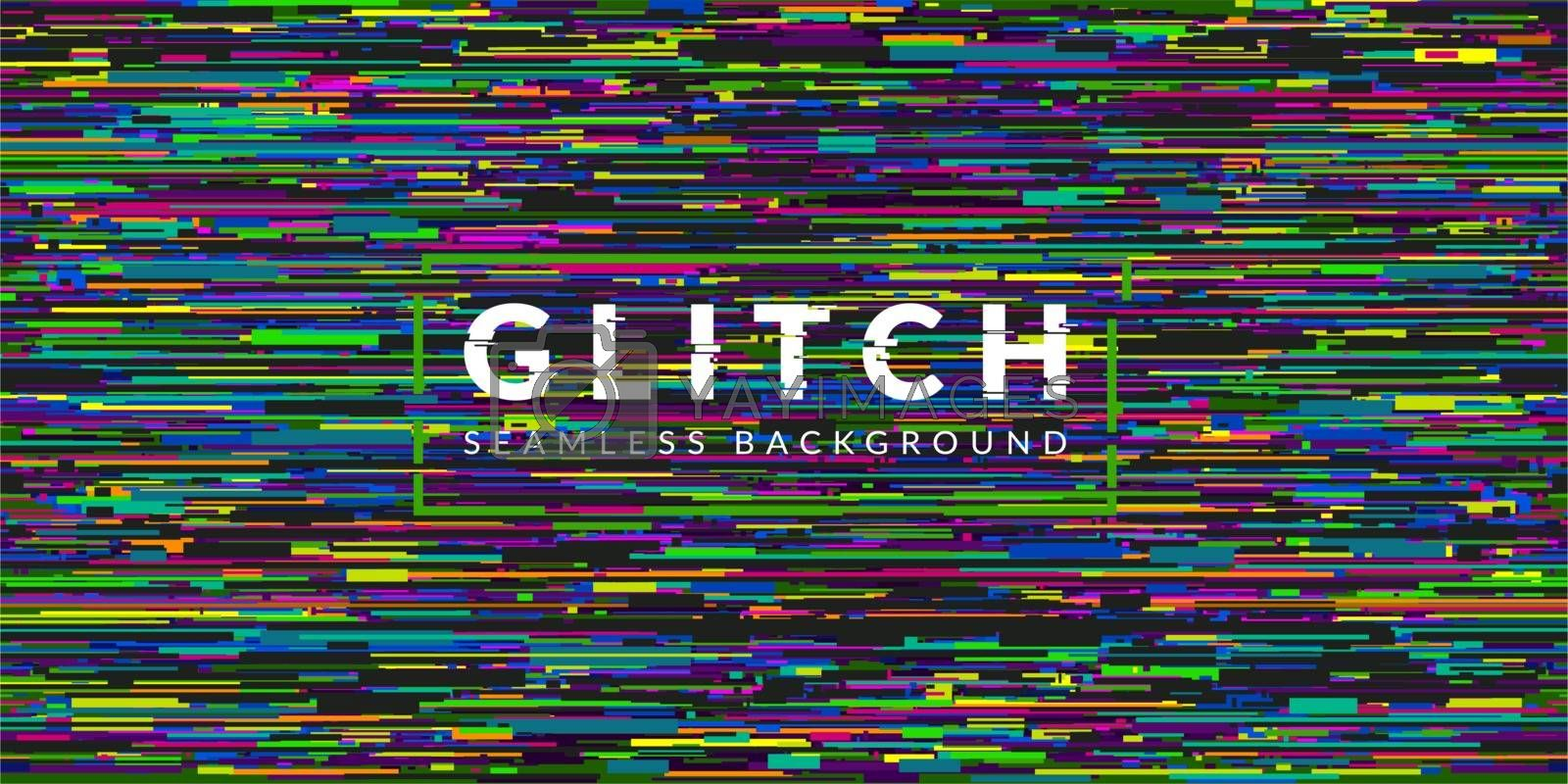 Cyber Glitch Abstract Seamless Pattern Vector Illustration Geometric Background Art. Vector illustration