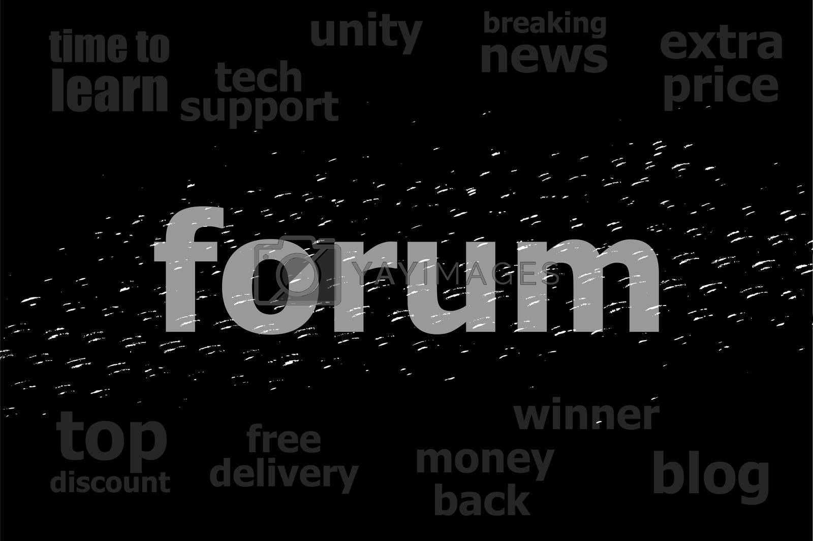 Text Forum. Web design concept . Black and white abstract background