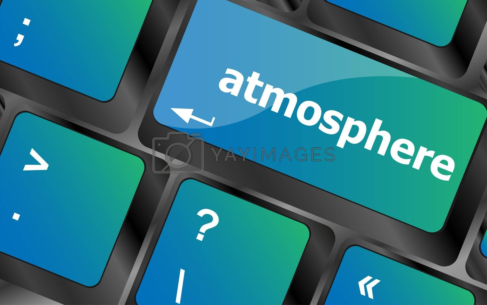 Keyboard with enter button, atmosphere word on it
