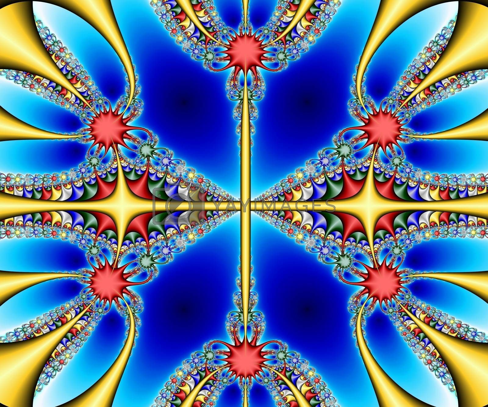 Computer generated abstract colorful fractal artwork by stocklady