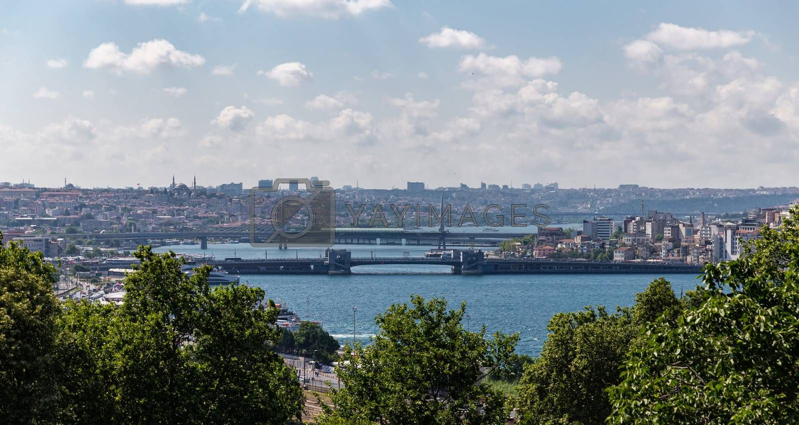 Golden Horn and Fatih District in Istanbul City, Turkey