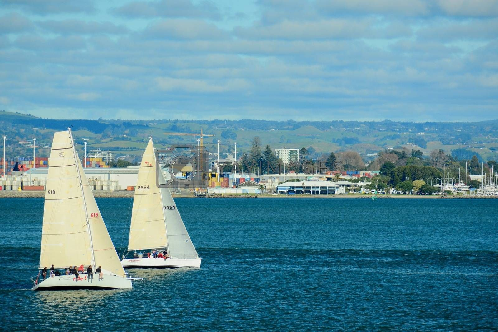 Papamoa Beach, Papamoa, New Zealand – July 07, 2019: Mount Maunganui Yacht Club with its enjoyable racing for all boats and crew. by Marshalkina