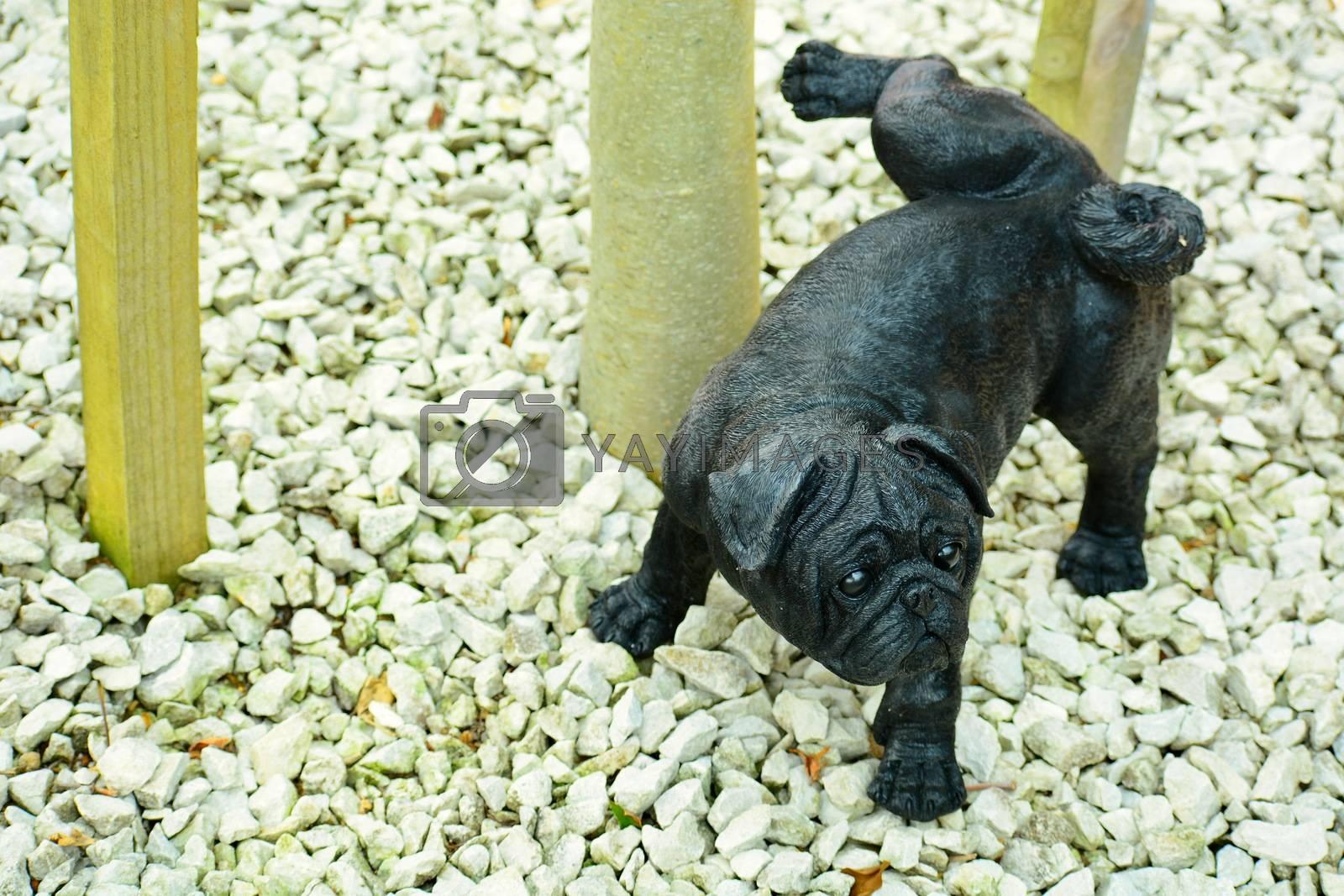 modern sculpture, concept art, a dog