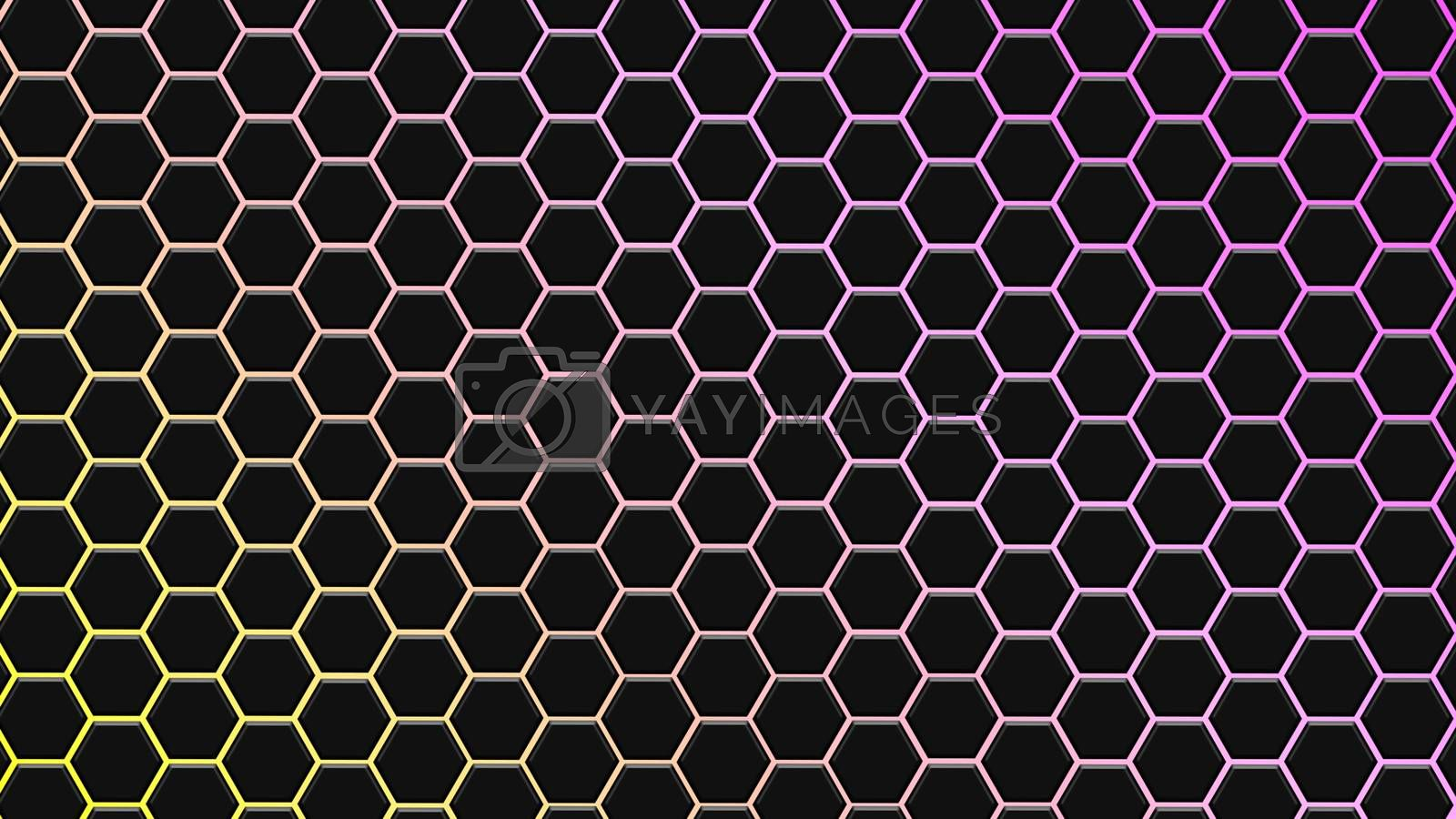 Colorfull hexagonal texture. Abstract background for design.